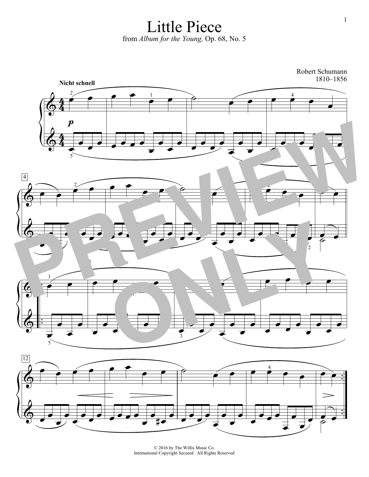 Little Piece Sheet Music