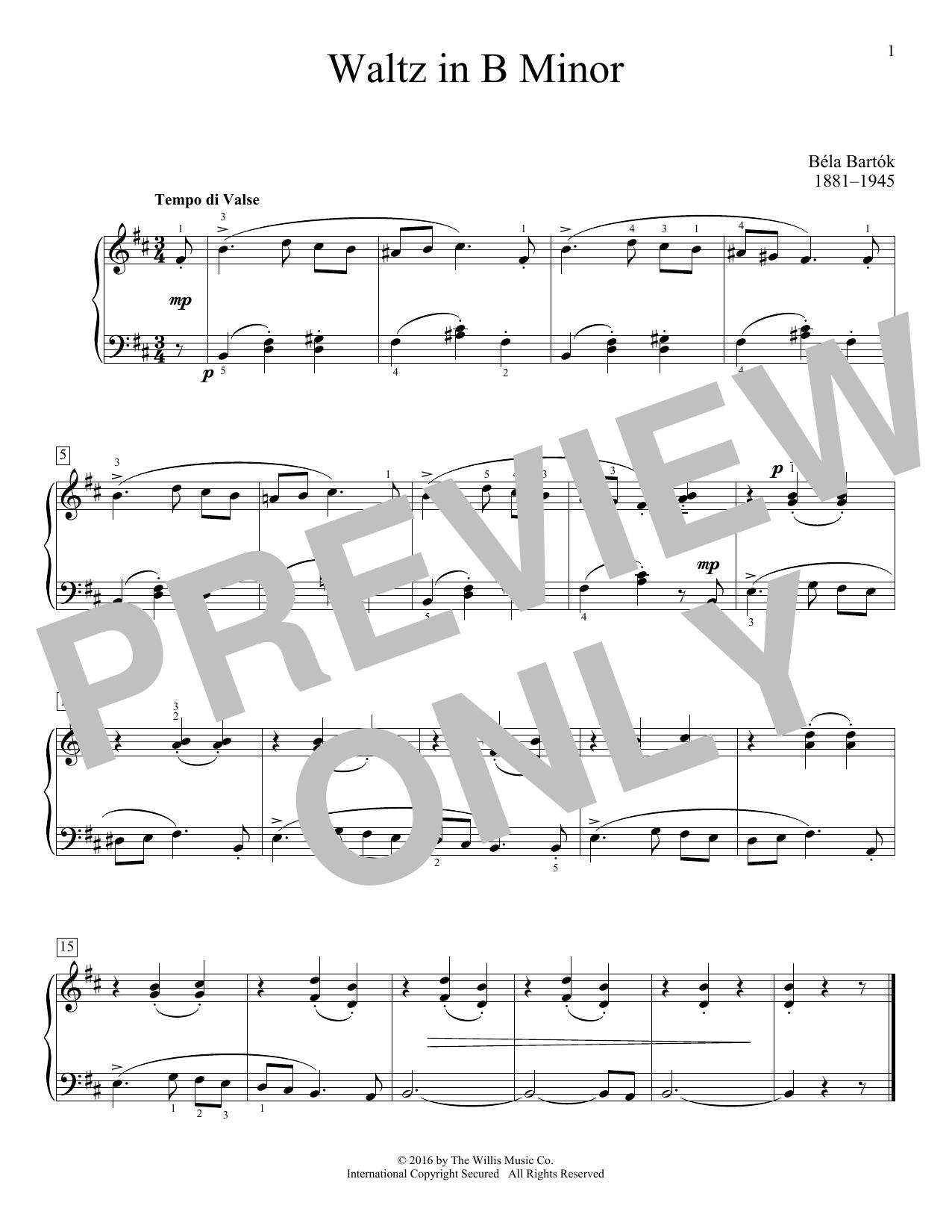 Waltz In B Minor Sheet Music