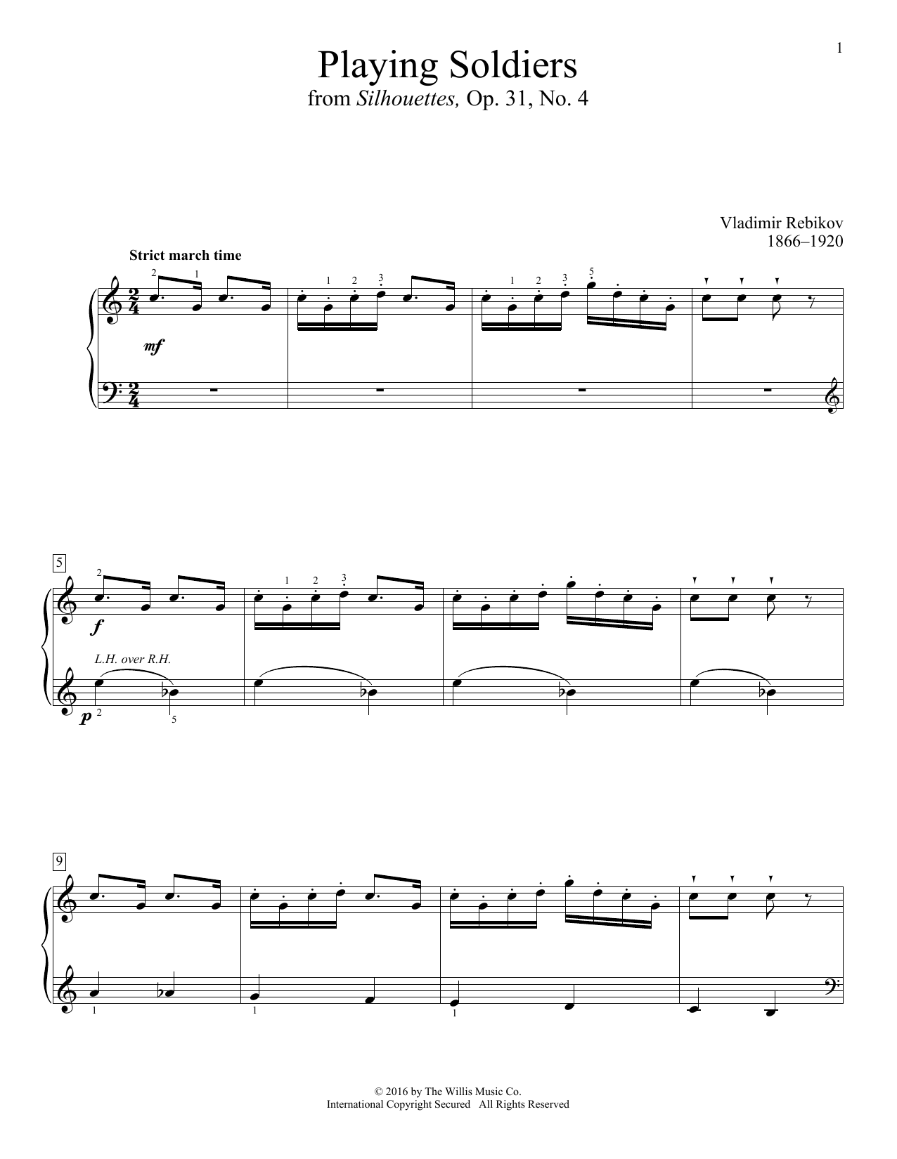 Playing Soldiers Sheet Music