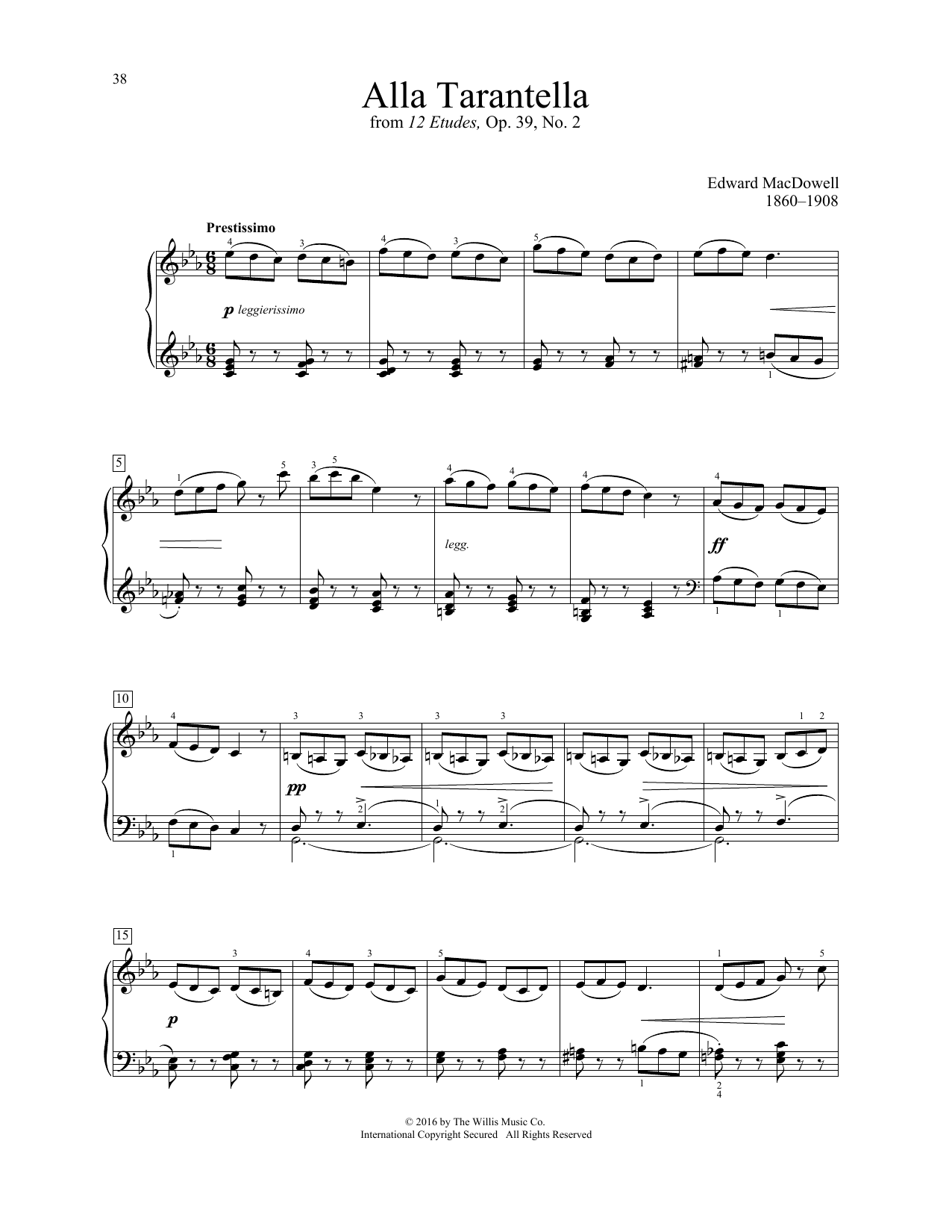 Alla Tarantella Sheet Music