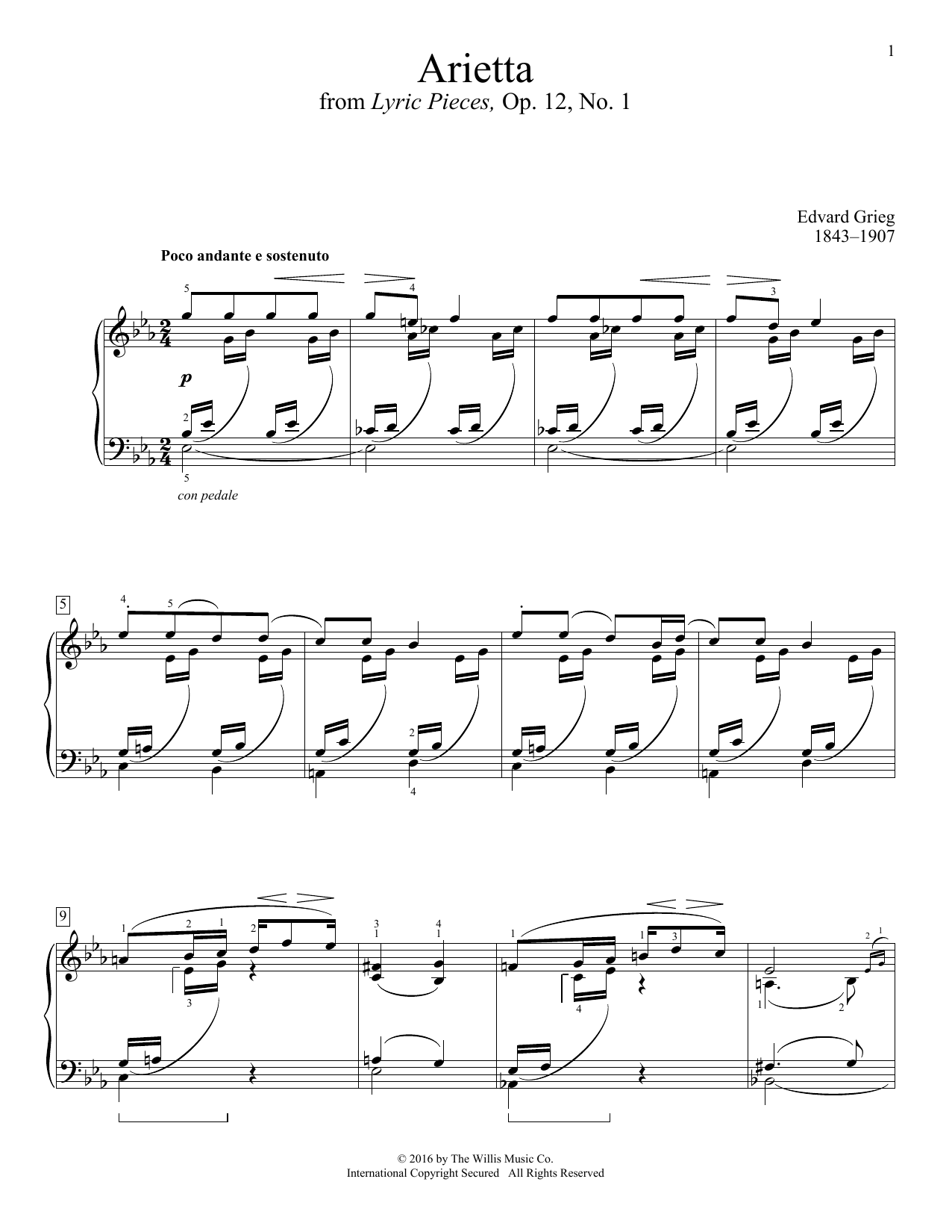 Arietta Sheet Music
