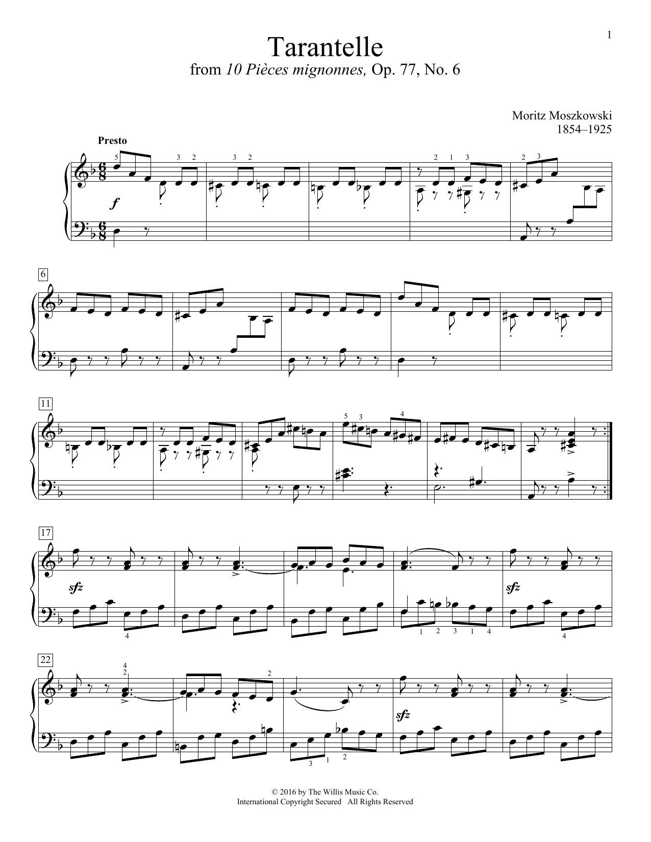 Tarantelle Sheet Music
