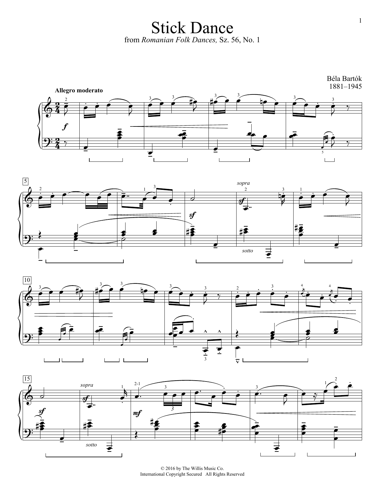Stick Dance Sheet Music