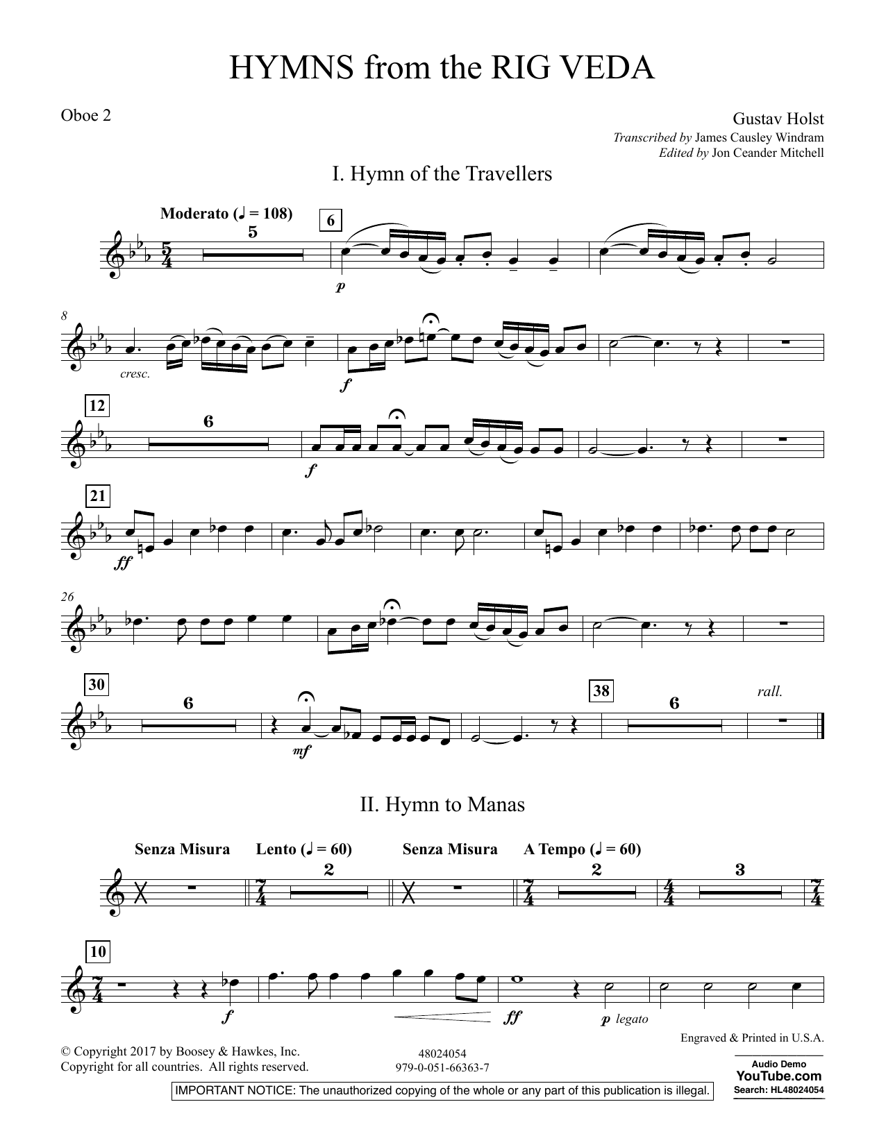 Hymns from the Rig Veda - Oboe 2 (Concert Band)