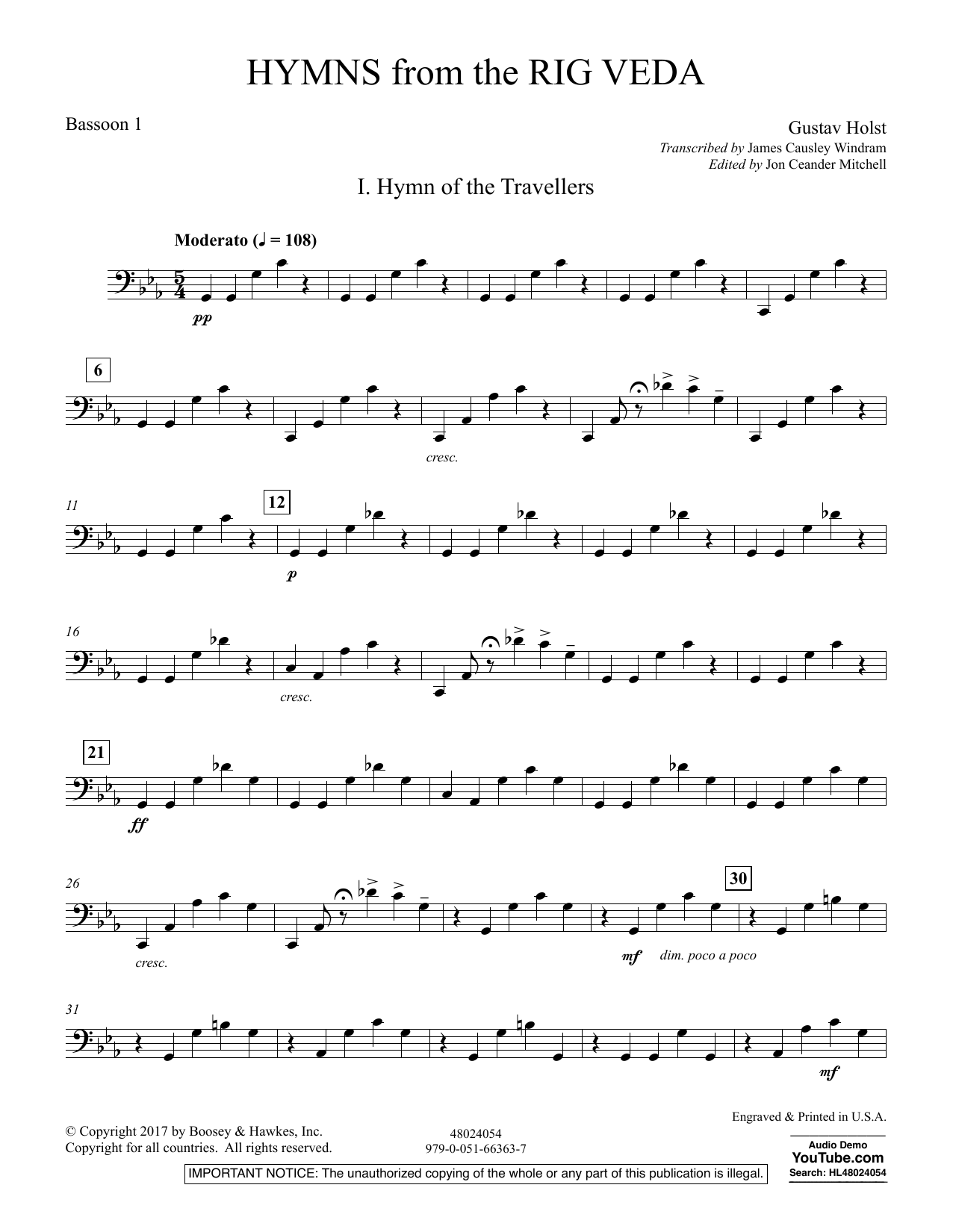 Hymns from the Rig Veda - Bassoon 1 (Concert Band)