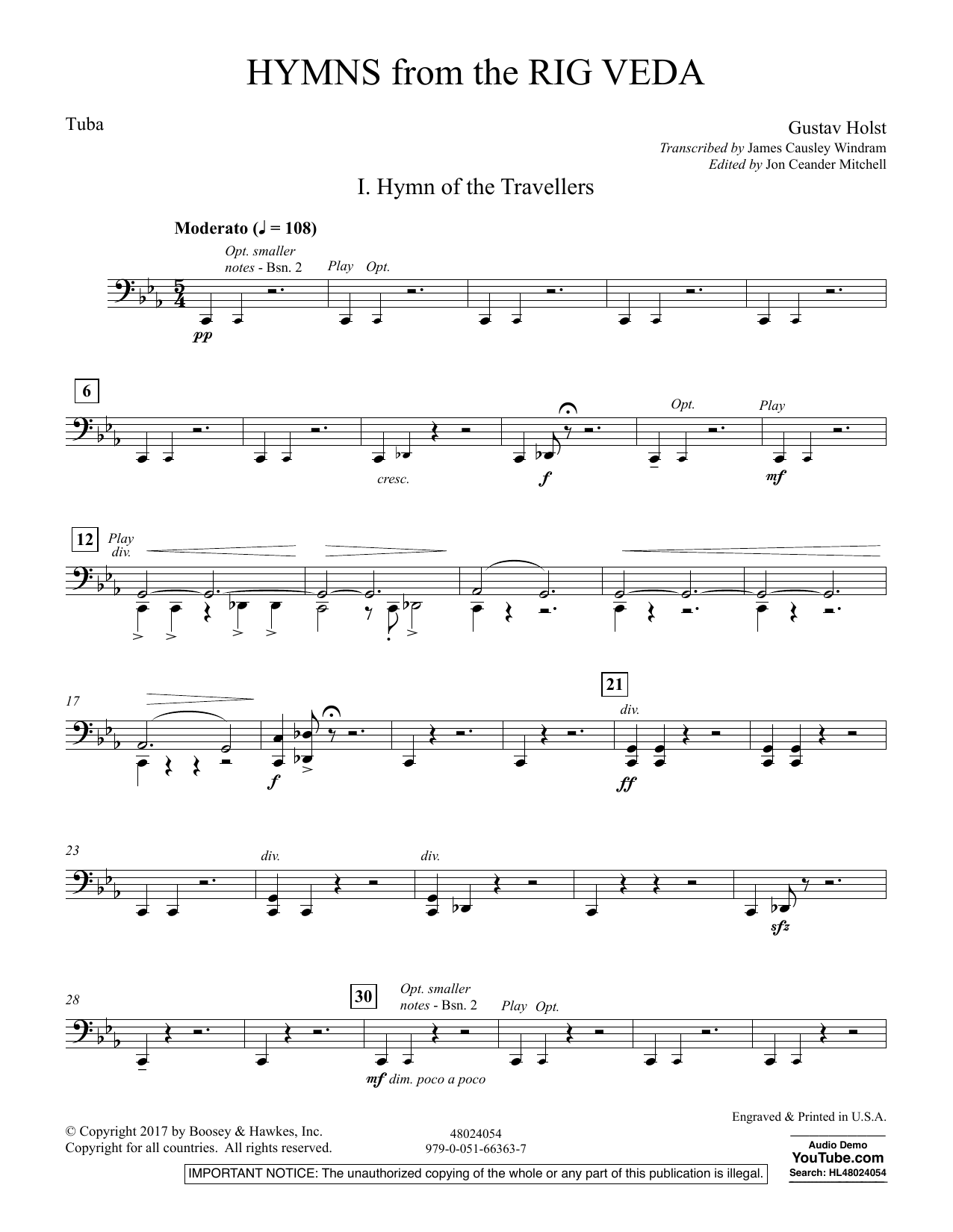 Hymns from the Rig Veda - Tuba (Concert Band)