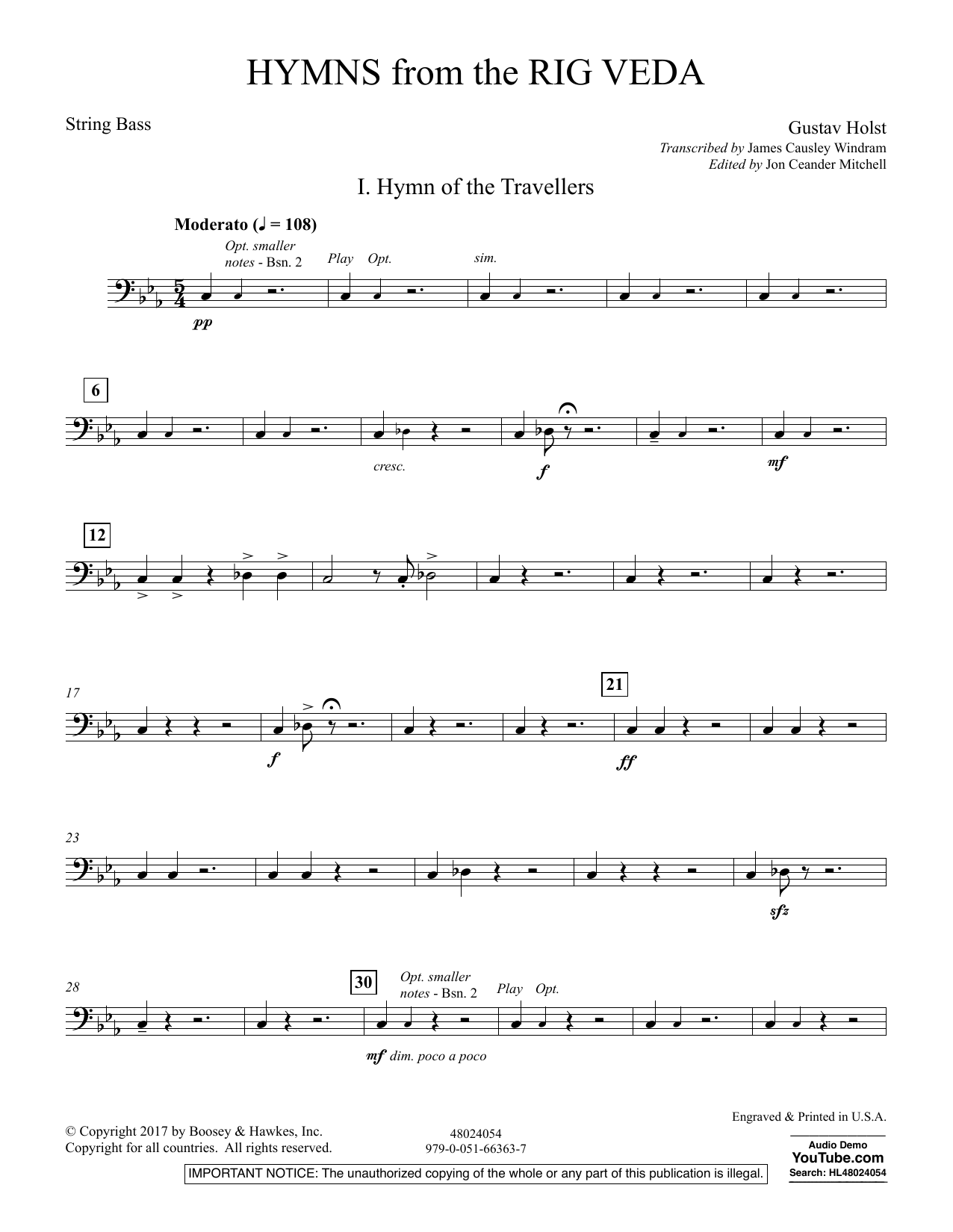 Hymns from the Rig Veda - String Bass (Concert Band)