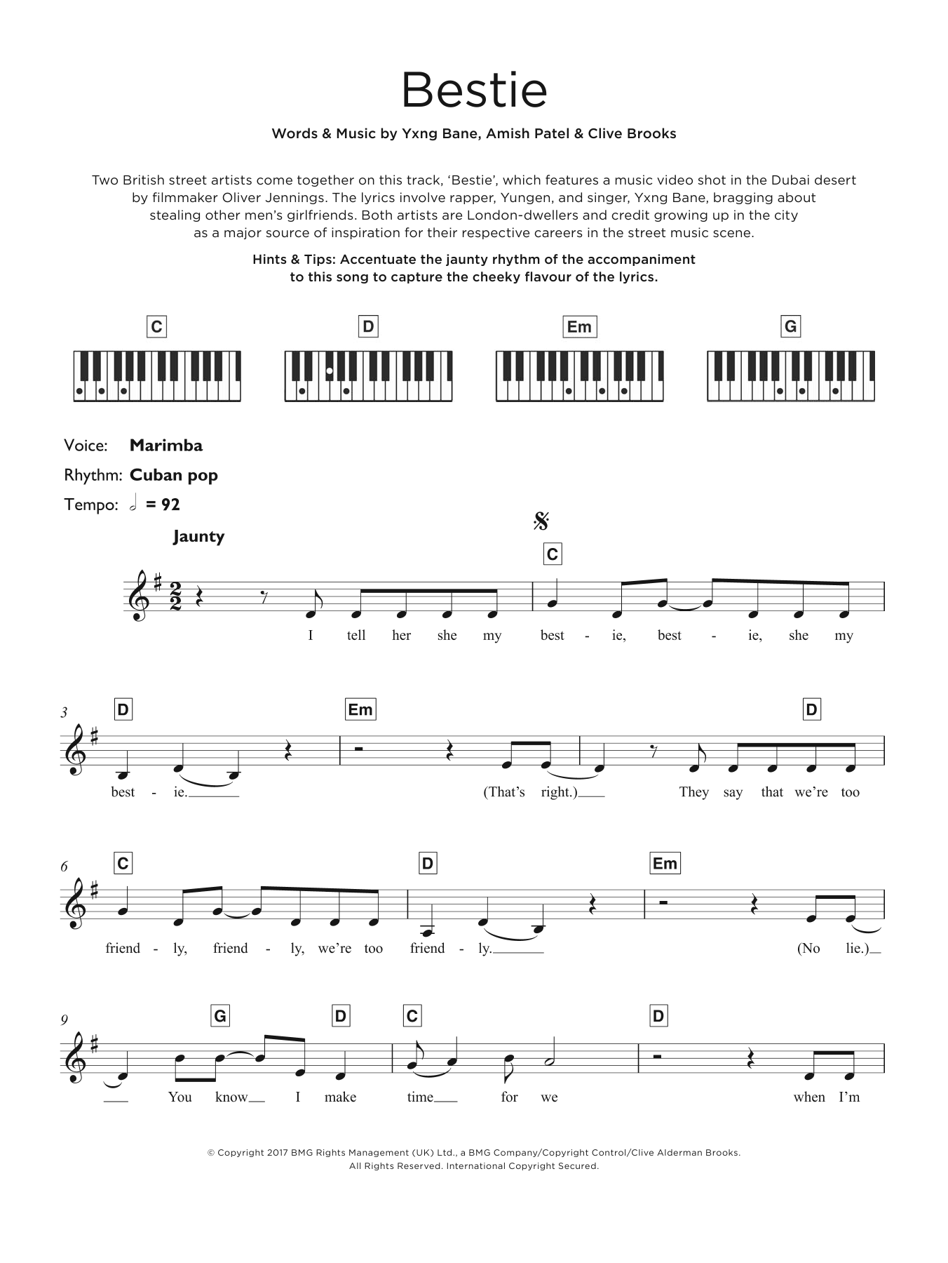 Bestie (feat. Yxng Bane) Sheet Music