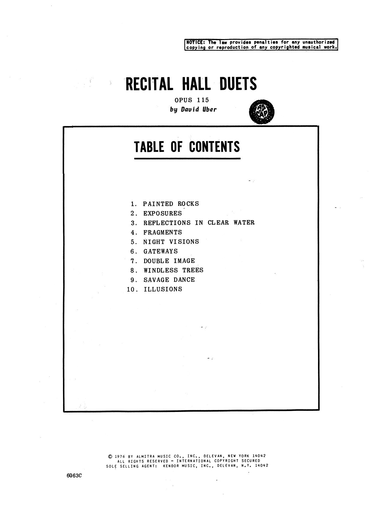 Recital Hall Duets Sheet Music
