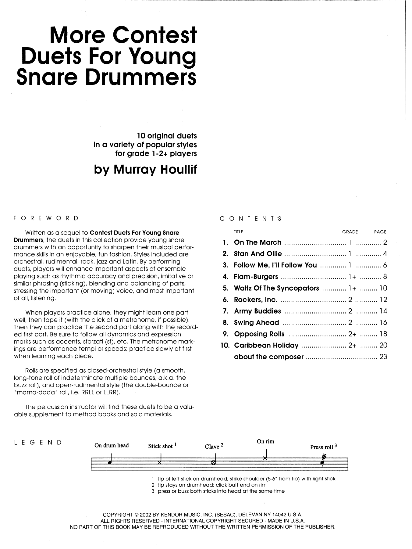 More Contest Duets For Young Snare Drummers Sheet Music