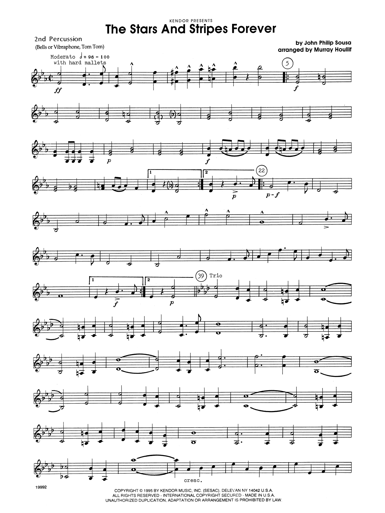 The Stars and Stripes Forever - Percussion 2 Sheet Music