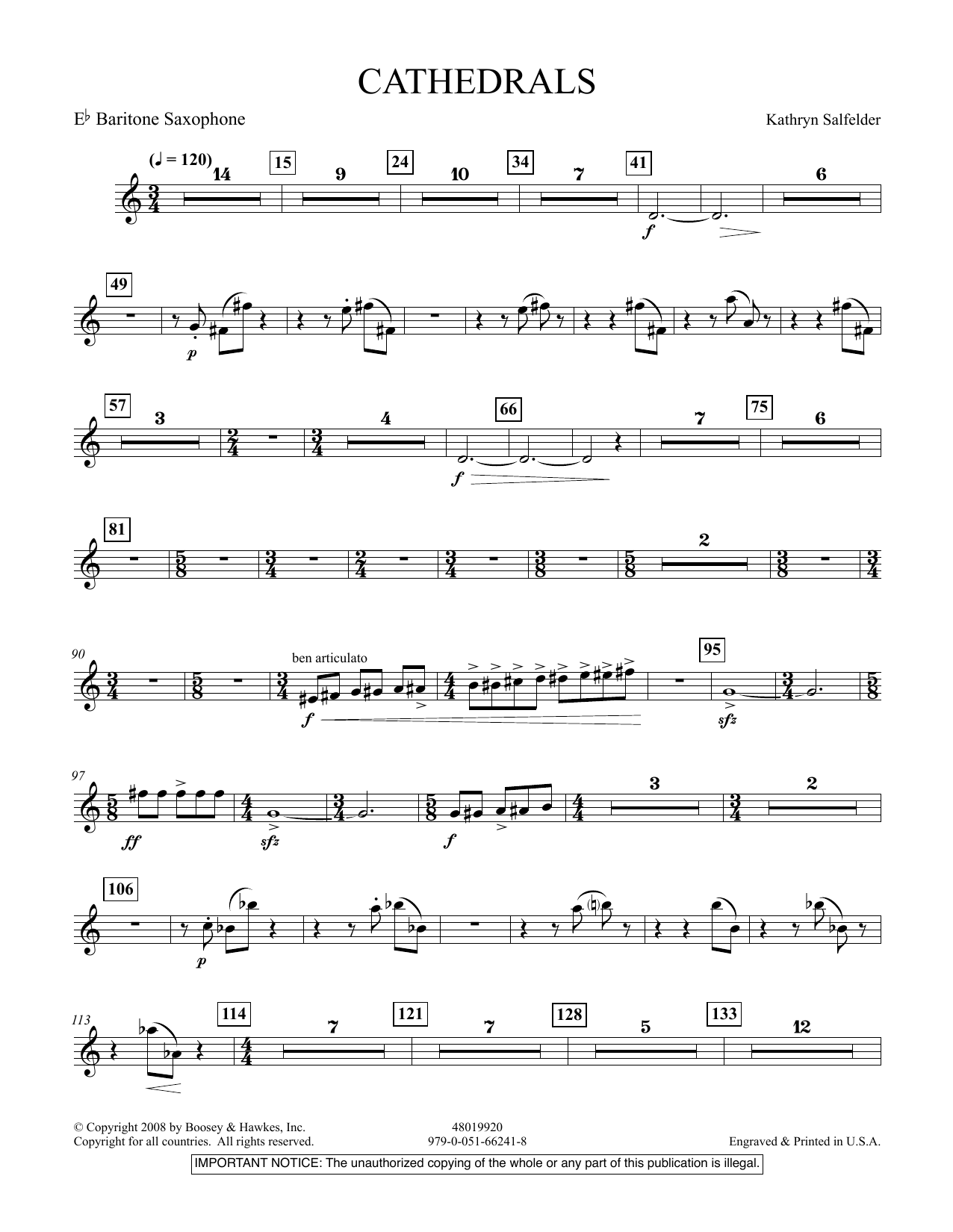 Cathedrals - Eb Baritone Saxophone (Concert Band)