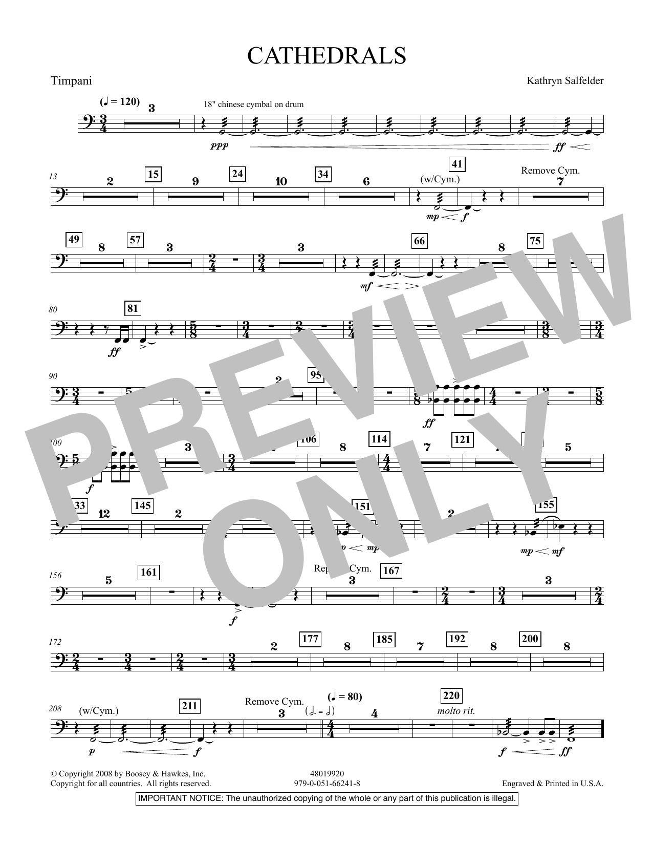 Cathedrals - Timpani (Concert Band)