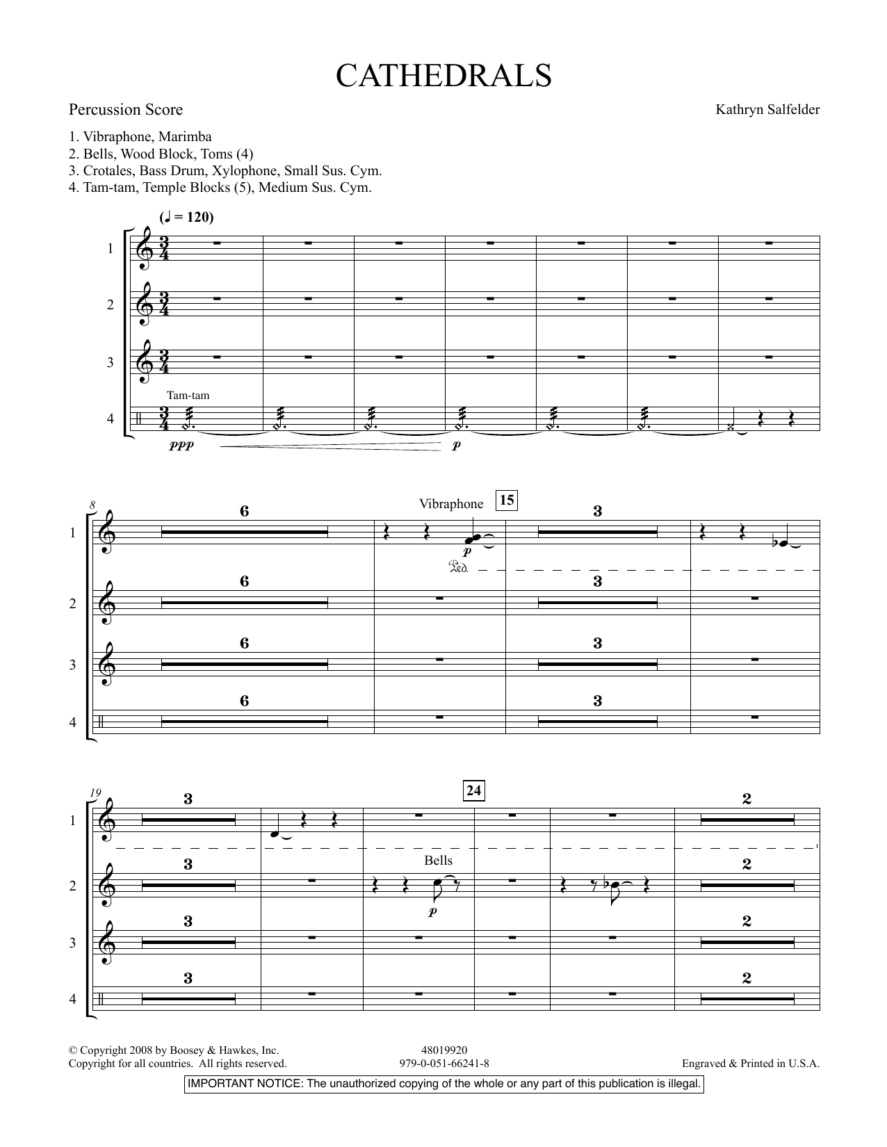Cathedrals - Percussion Score (Concert Band)