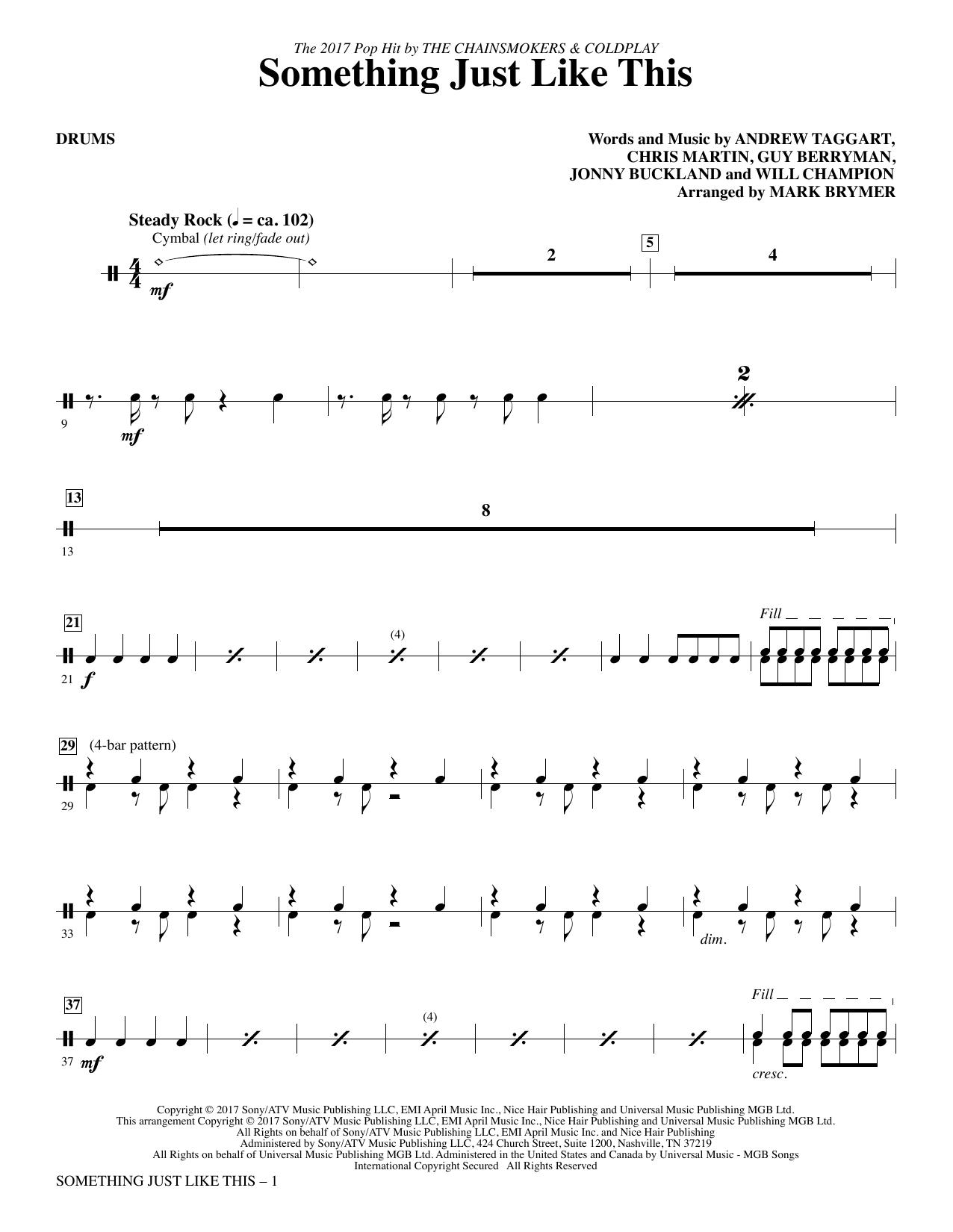 Something Just Like This - Drums (Choir Instrumental Pak)