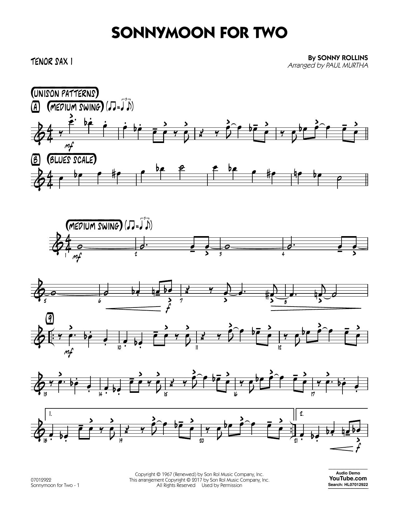 Sonnymoon for Two - Tenor Sax 1 (Jazz Ensemble)