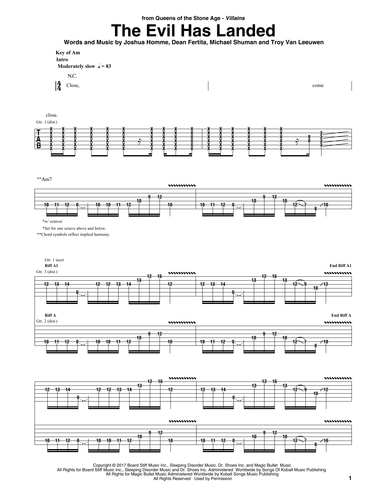 The Evil Has Landed Sheet Music
