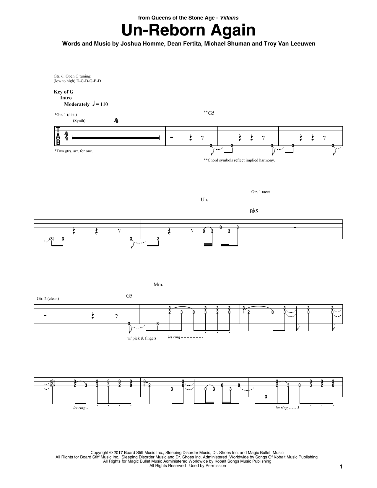 Un-Reborn Again Sheet Music