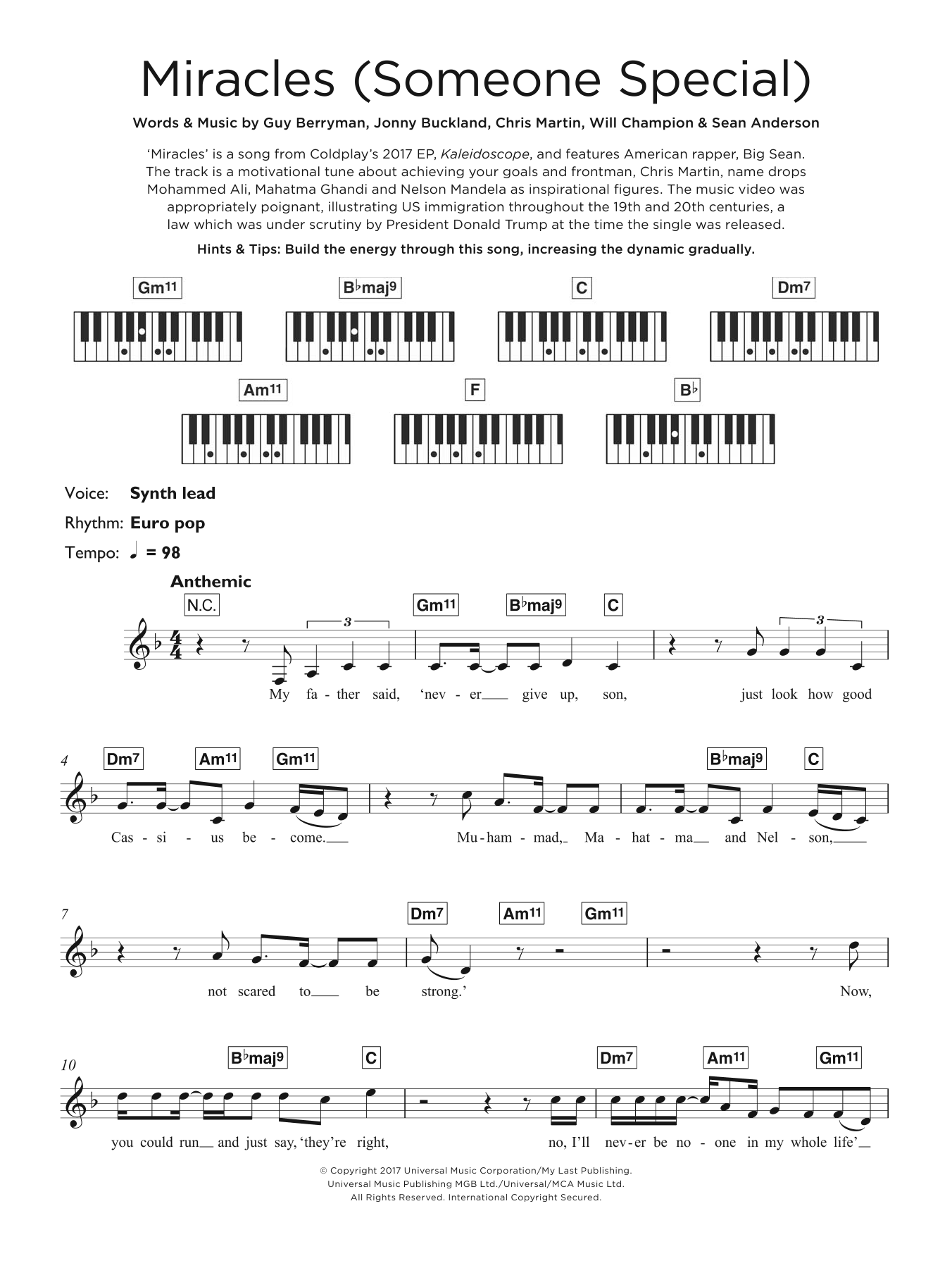 Miracles (Someone Special) (feat. Big Sean) Sheet Music