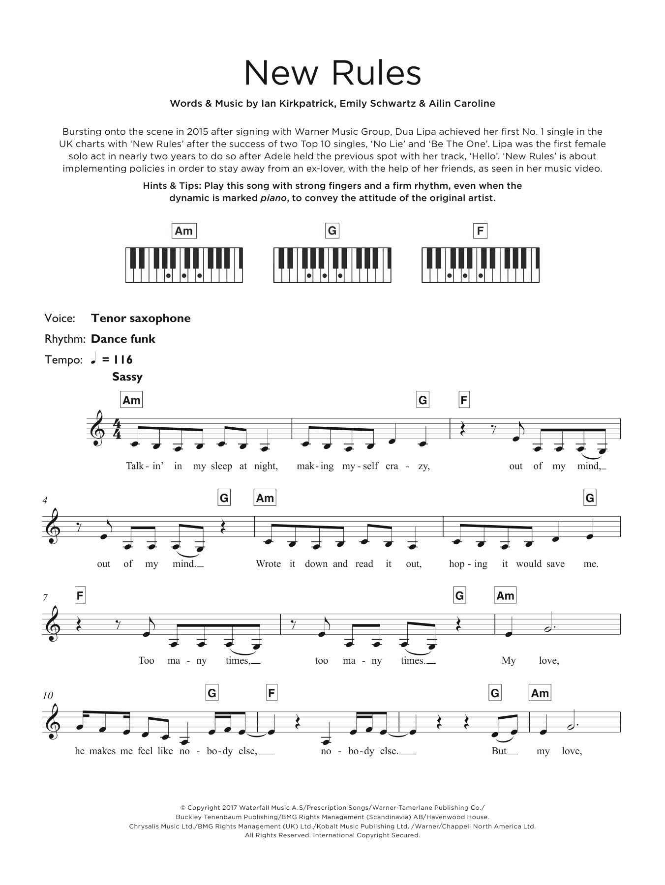 New Rules Sheet Music