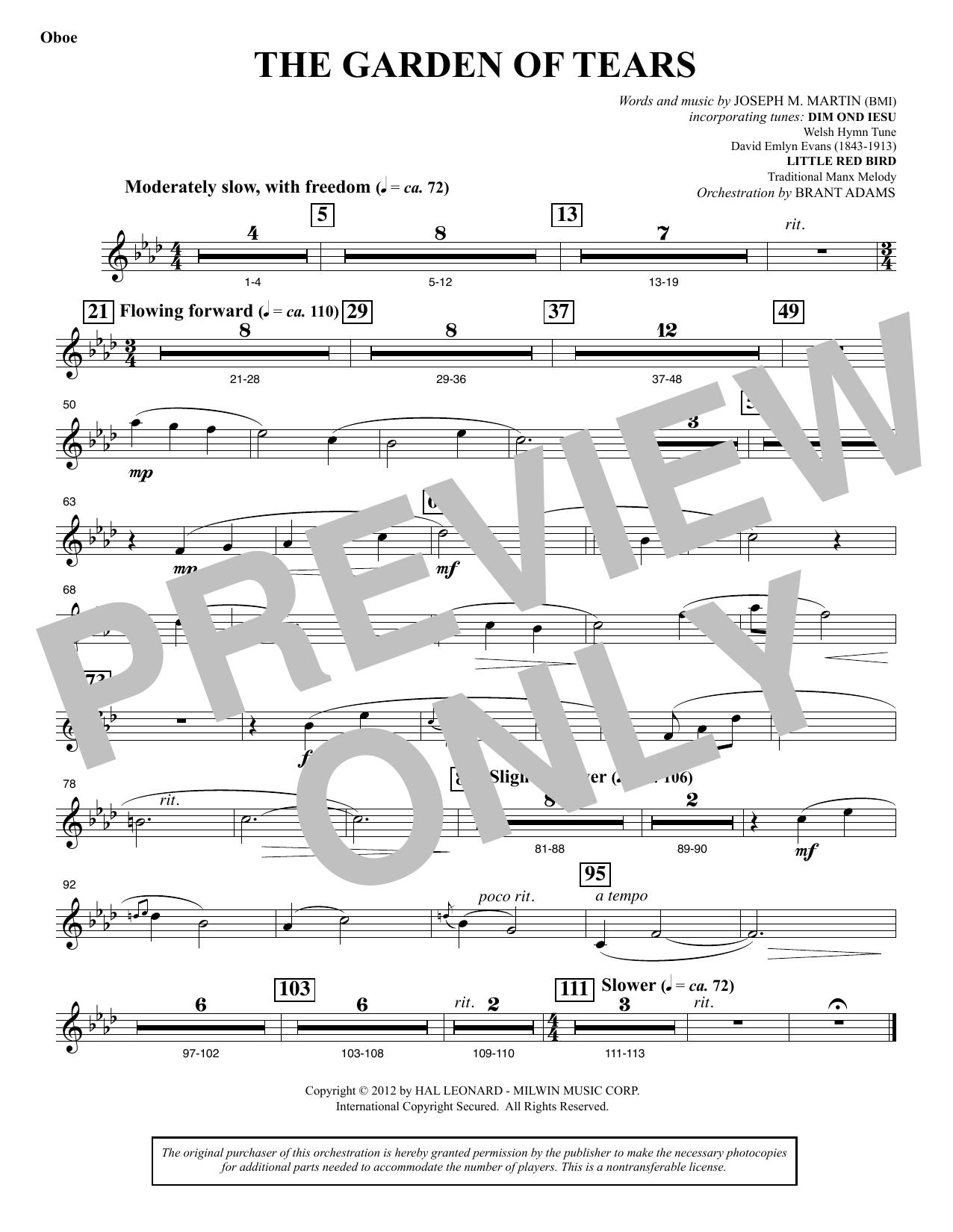 The Garden of Tears - Oboe (Choir Instrumental Pak)