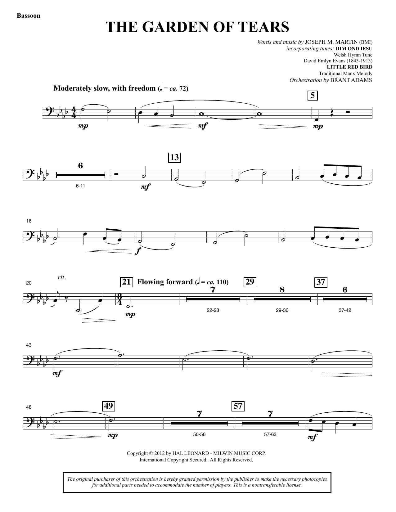 The Garden of Tears - Bassoon (Choir Instrumental Pak)