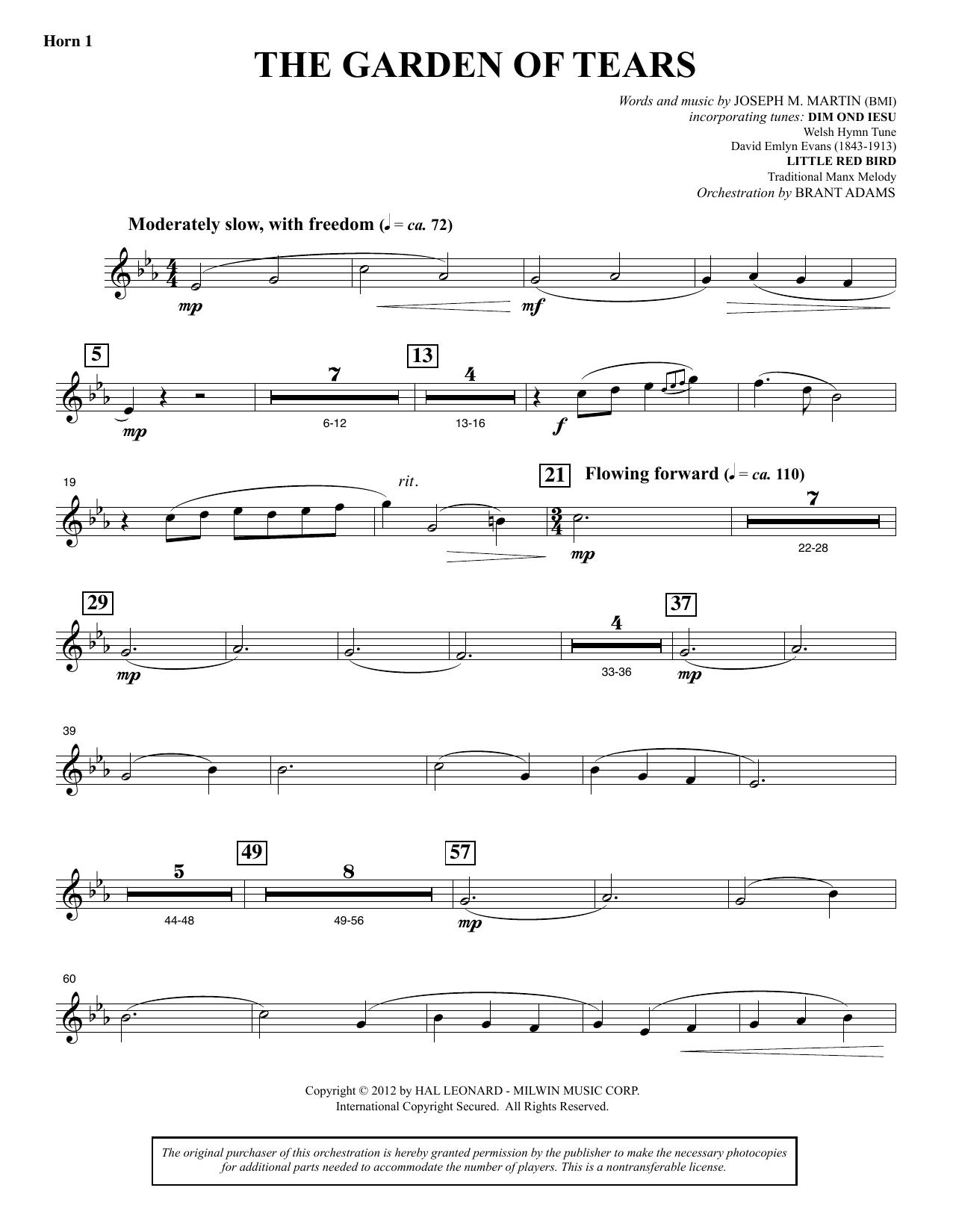 The Garden of Tears - F Horn 1 (Choir Instrumental Pak)