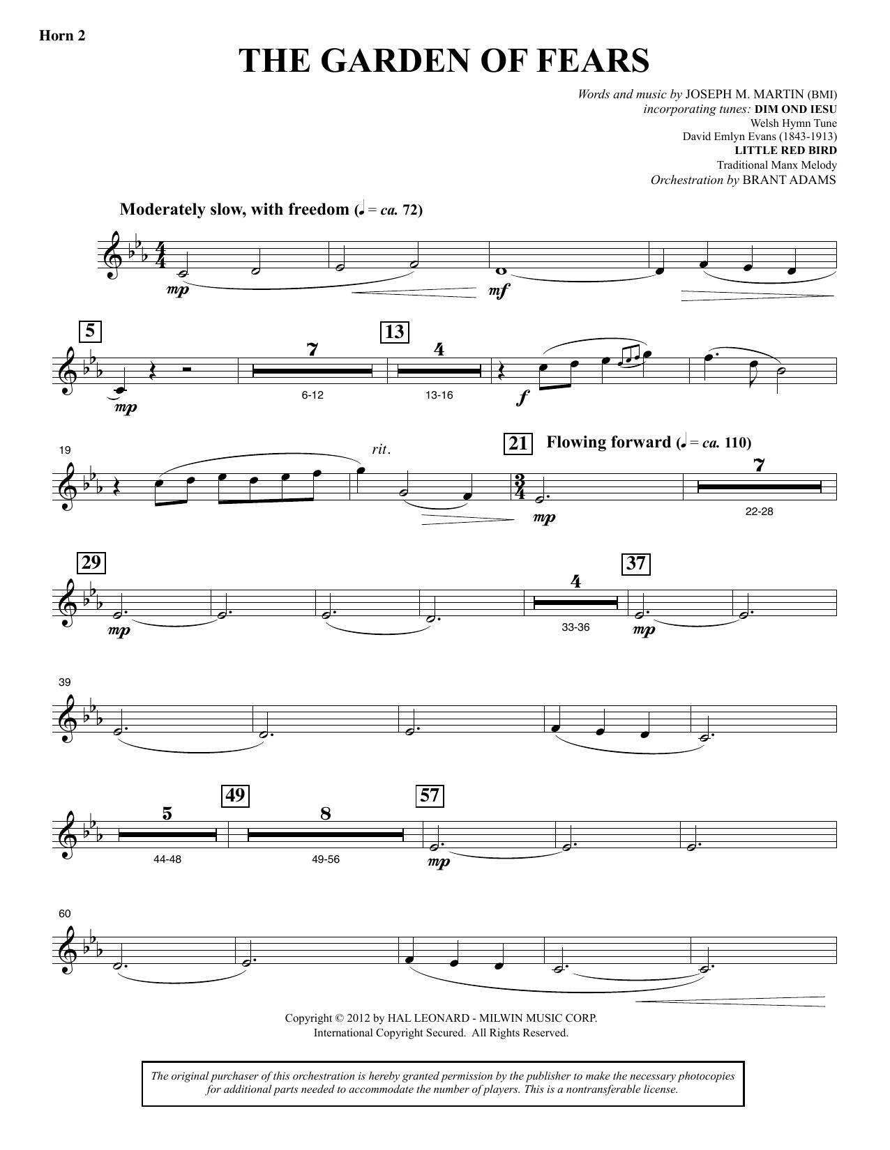 The Garden of Tears - F Horn 2 (Choir Instrumental Pak)