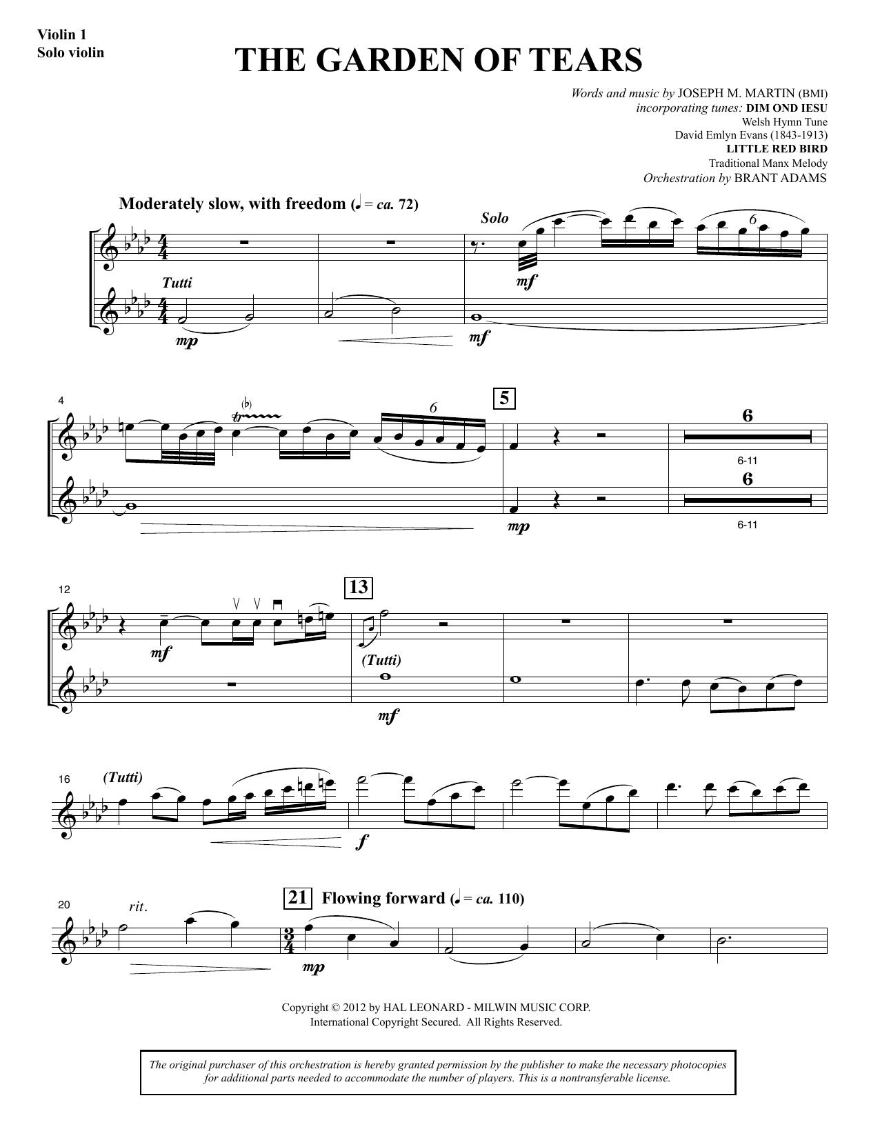 The Garden of Tears - Violin 1/Solo Violin (Choir Instrumental Pak)