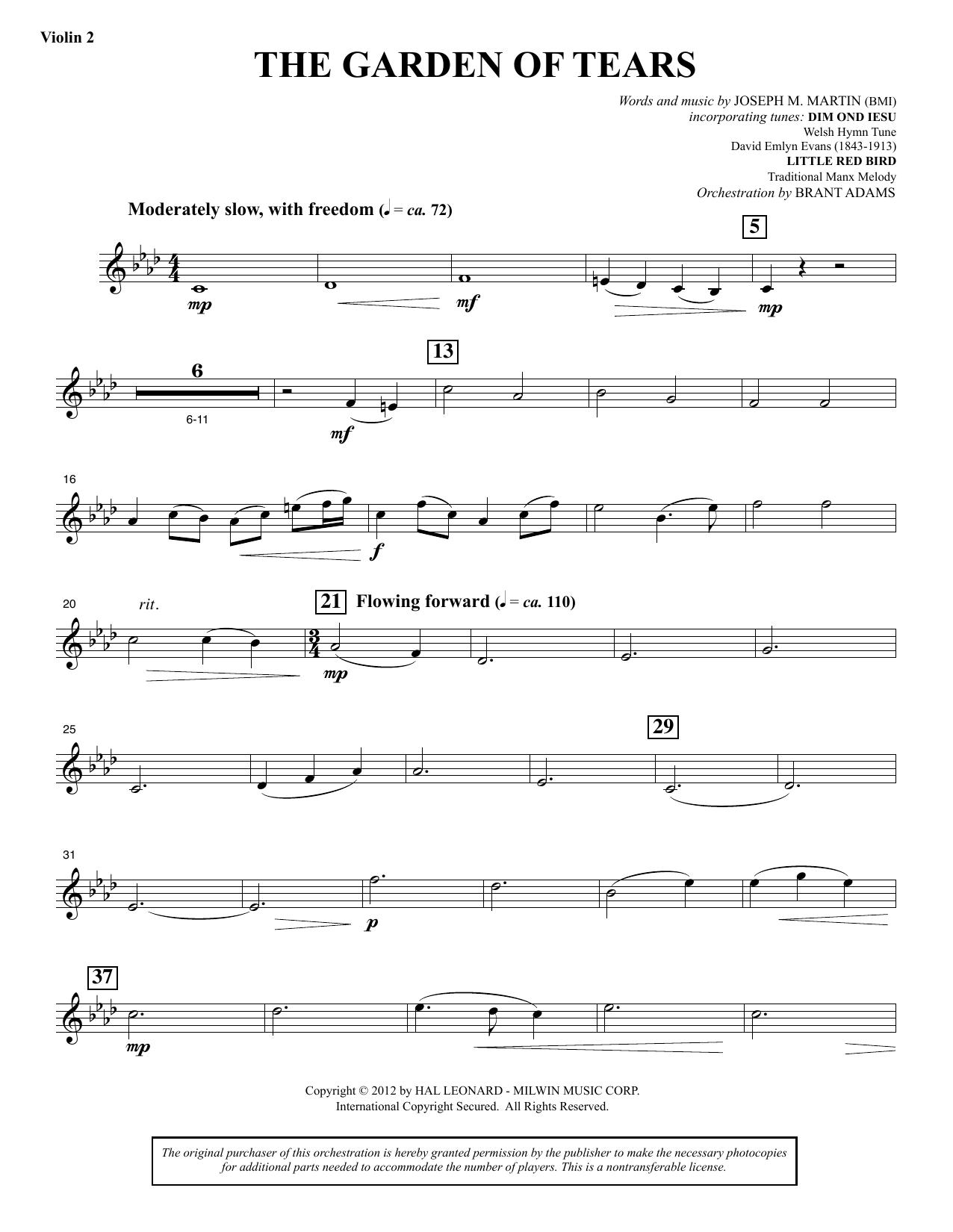 The Garden of Tears - Violin 2 (Choir Instrumental Pak)
