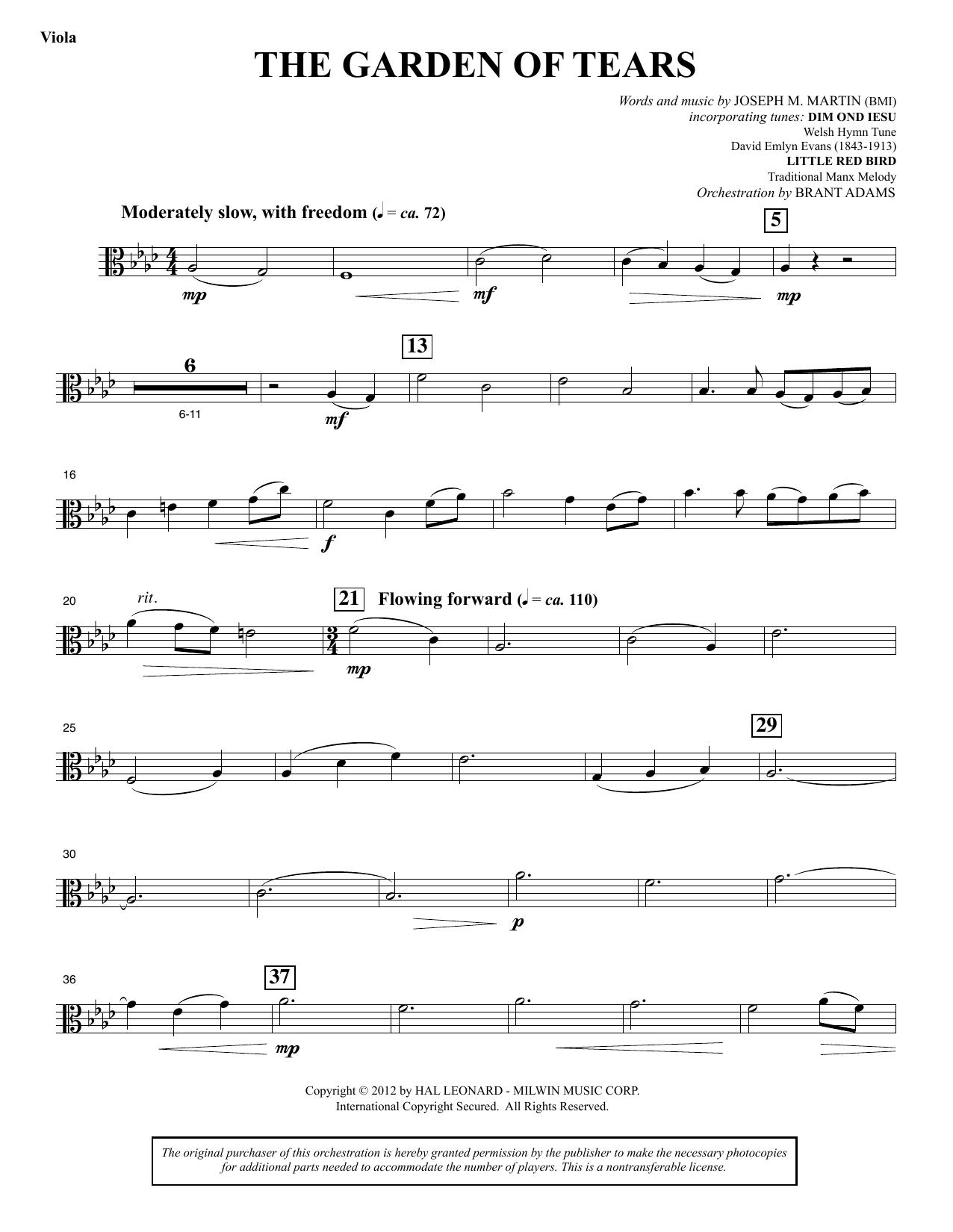 The Garden of Tears - Viola (Choir Instrumental Pak)