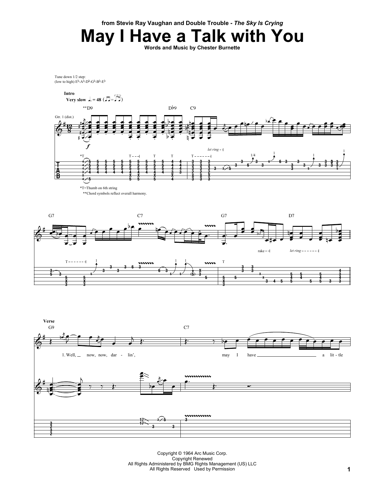May I Have A Talk With You Sheet Music
