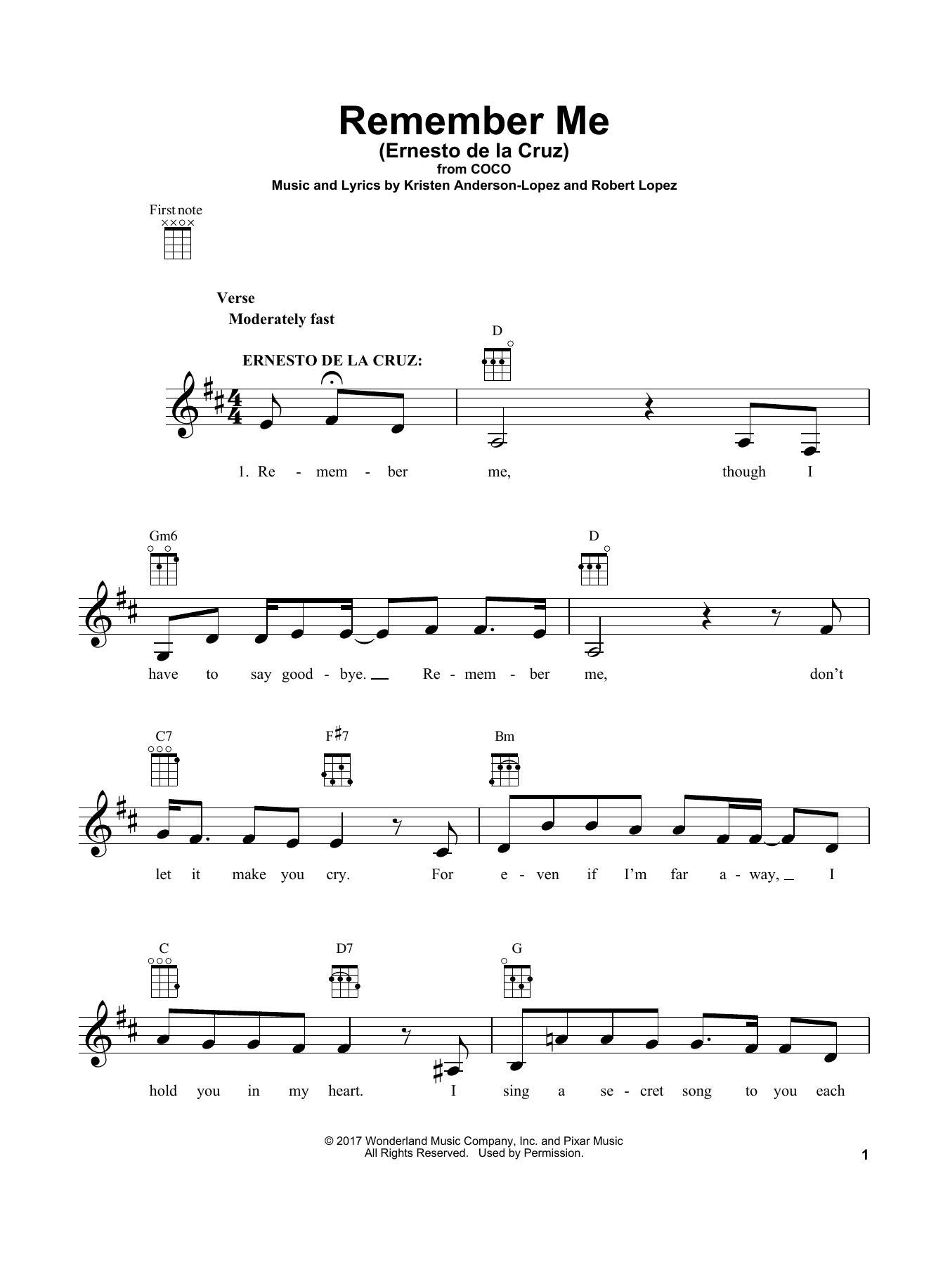 sheet music digital files to print licensed coco movie digital sheet music. Black Bedroom Furniture Sets. Home Design Ideas