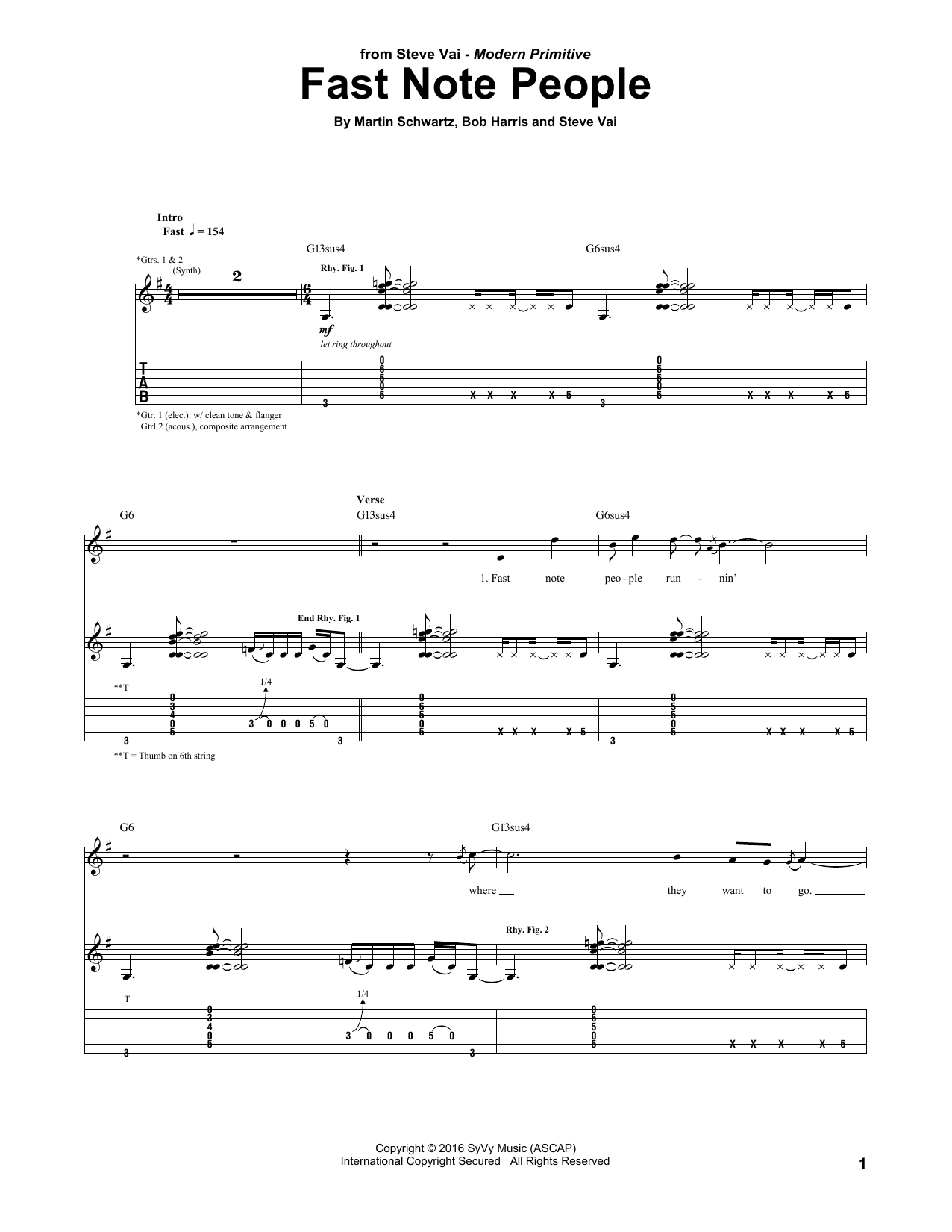 Fast Note People Sheet Music