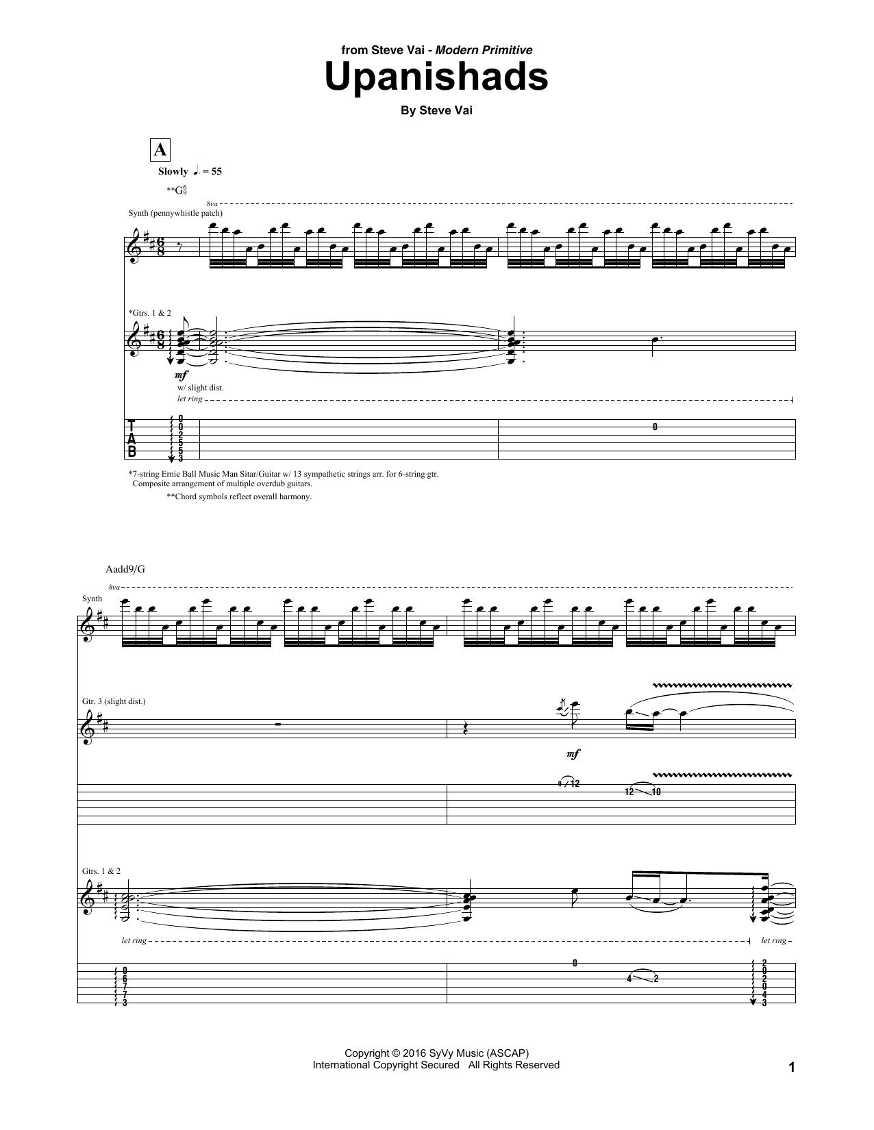 Upanishads Sheet Music