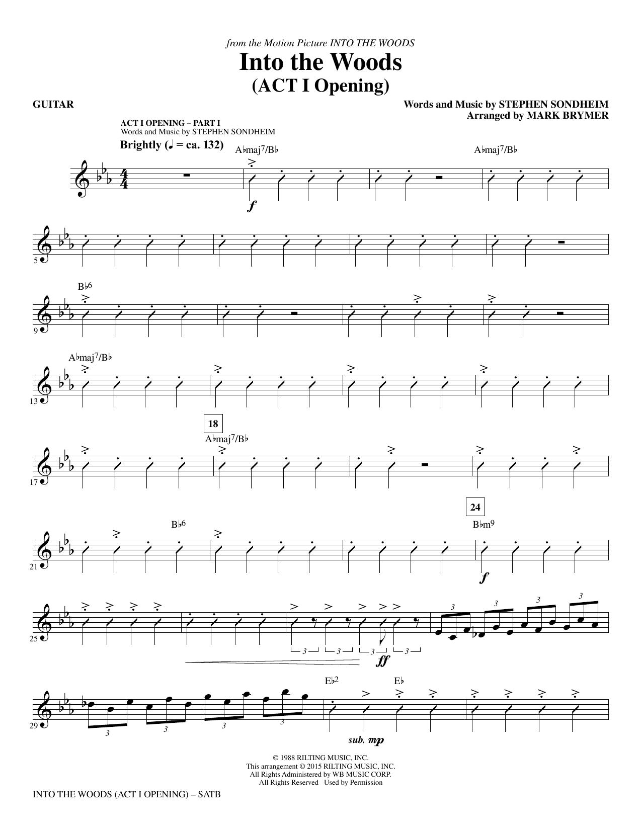 Into the Woods - Guitar (Choir Instrumental Pak)