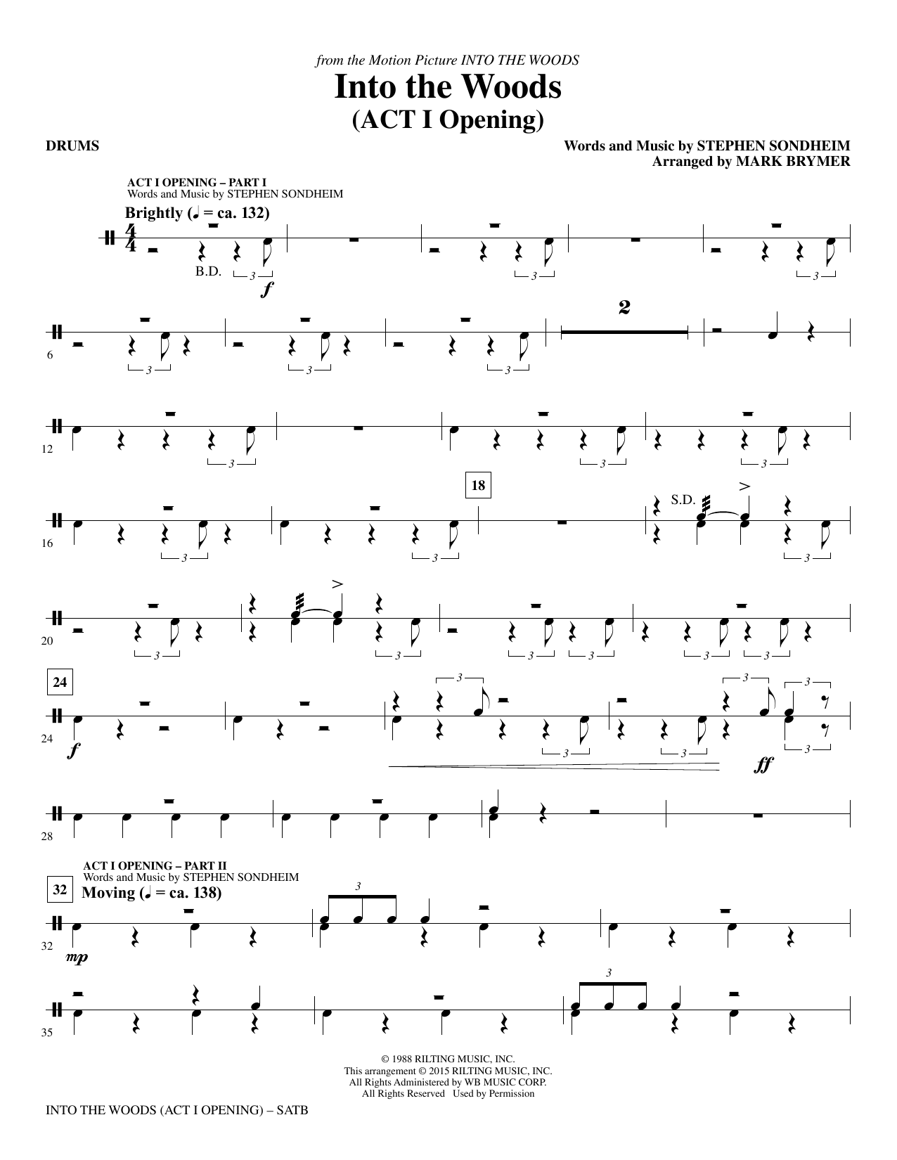 Into the Woods - Drums (Choir Instrumental Pak)