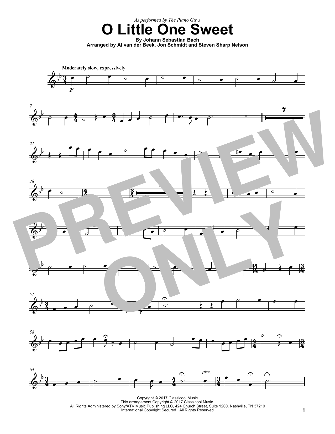 O Little One Sweet (Violin Solo)