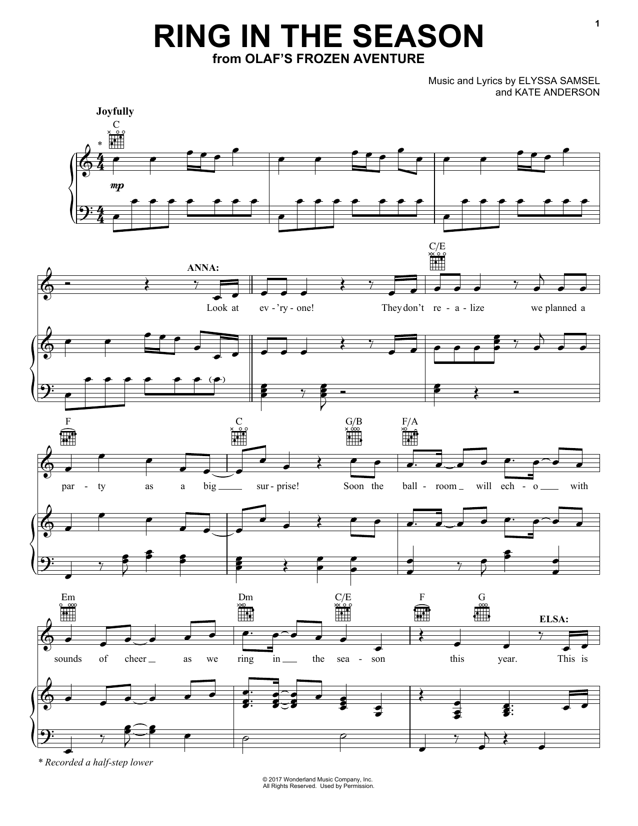 Ring In The Season (Piano, Vocal & Guitar (Right-Hand Melody))