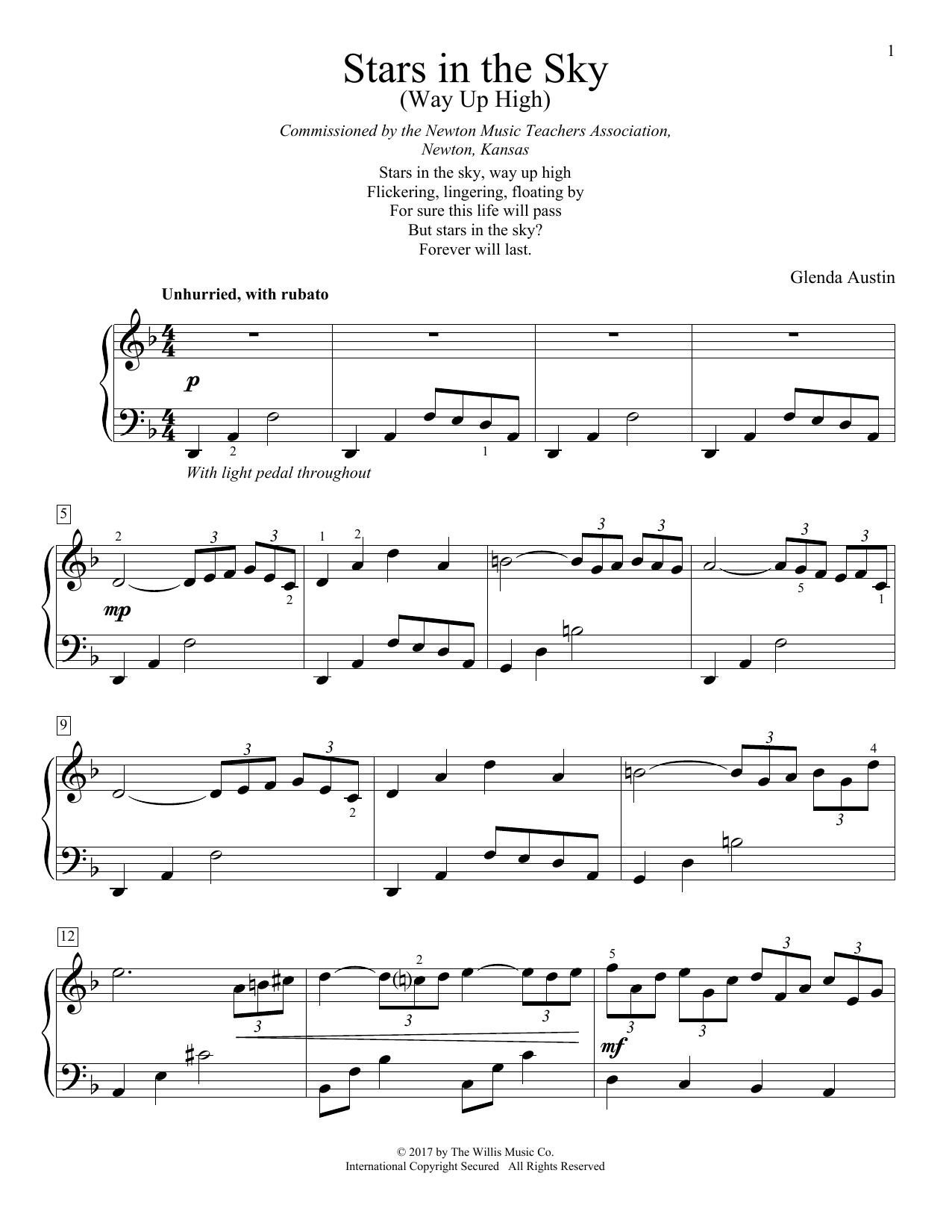 Stars In The Sky (Way Up High) Sheet Music