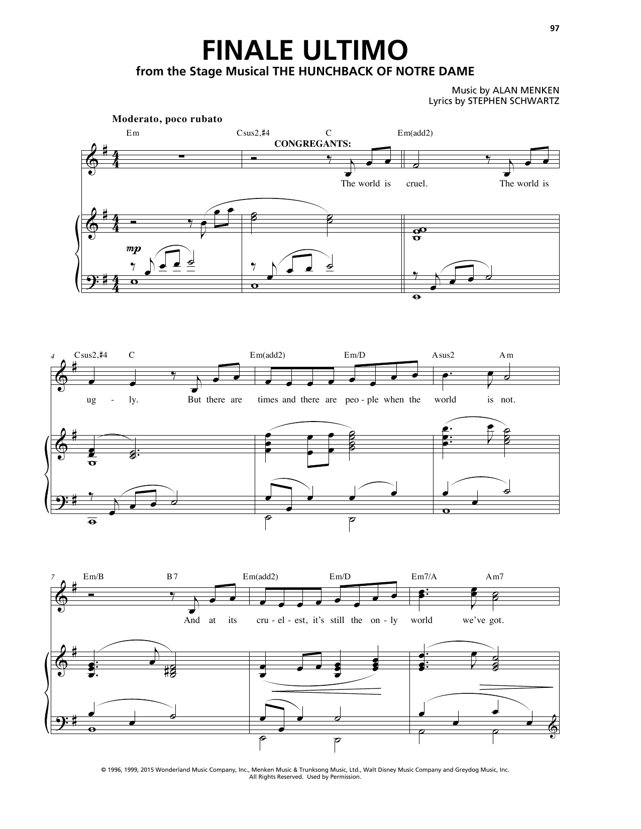 Finale (Ultimo) Sheet Music