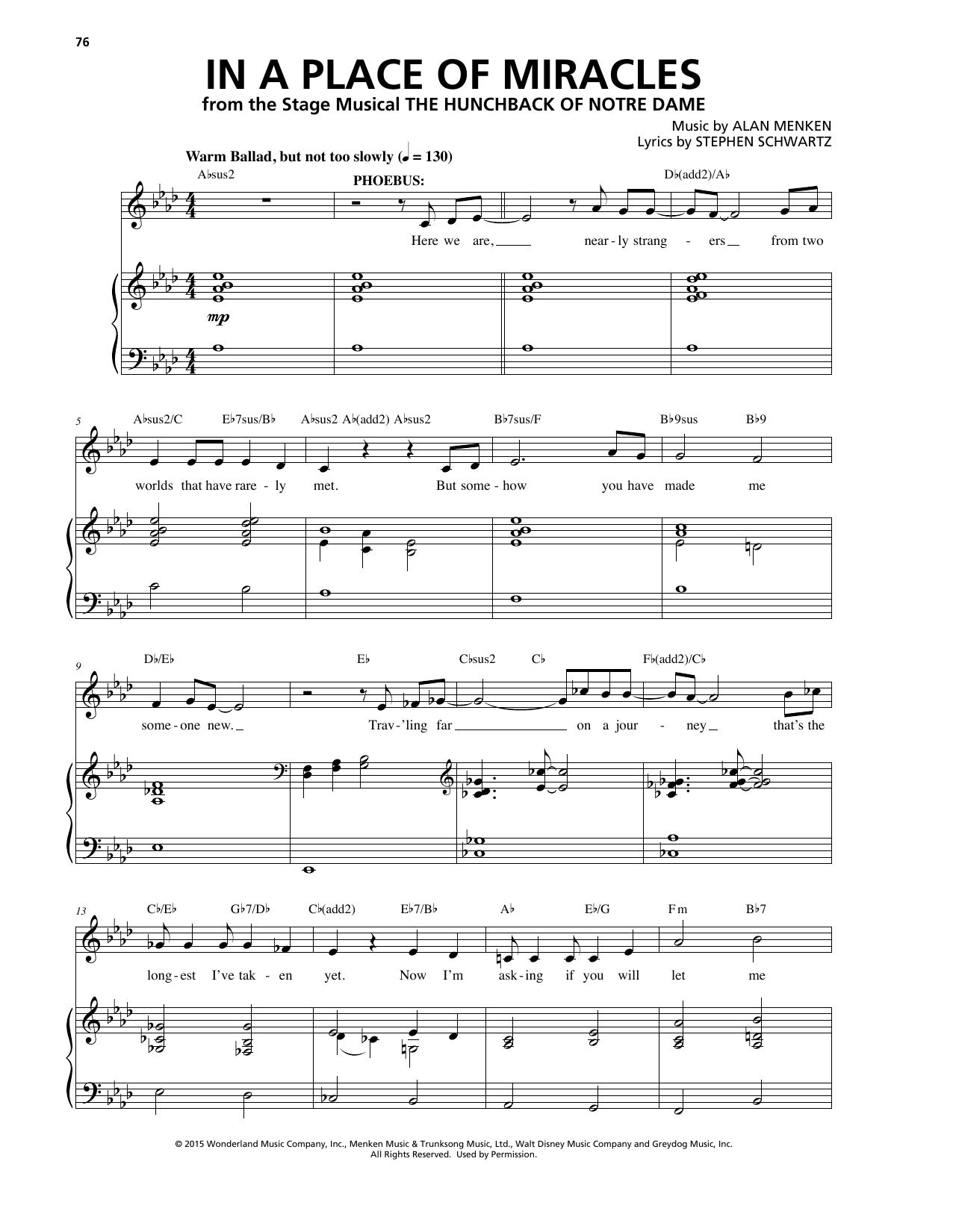 In A Place Of Miracles Sheet Music