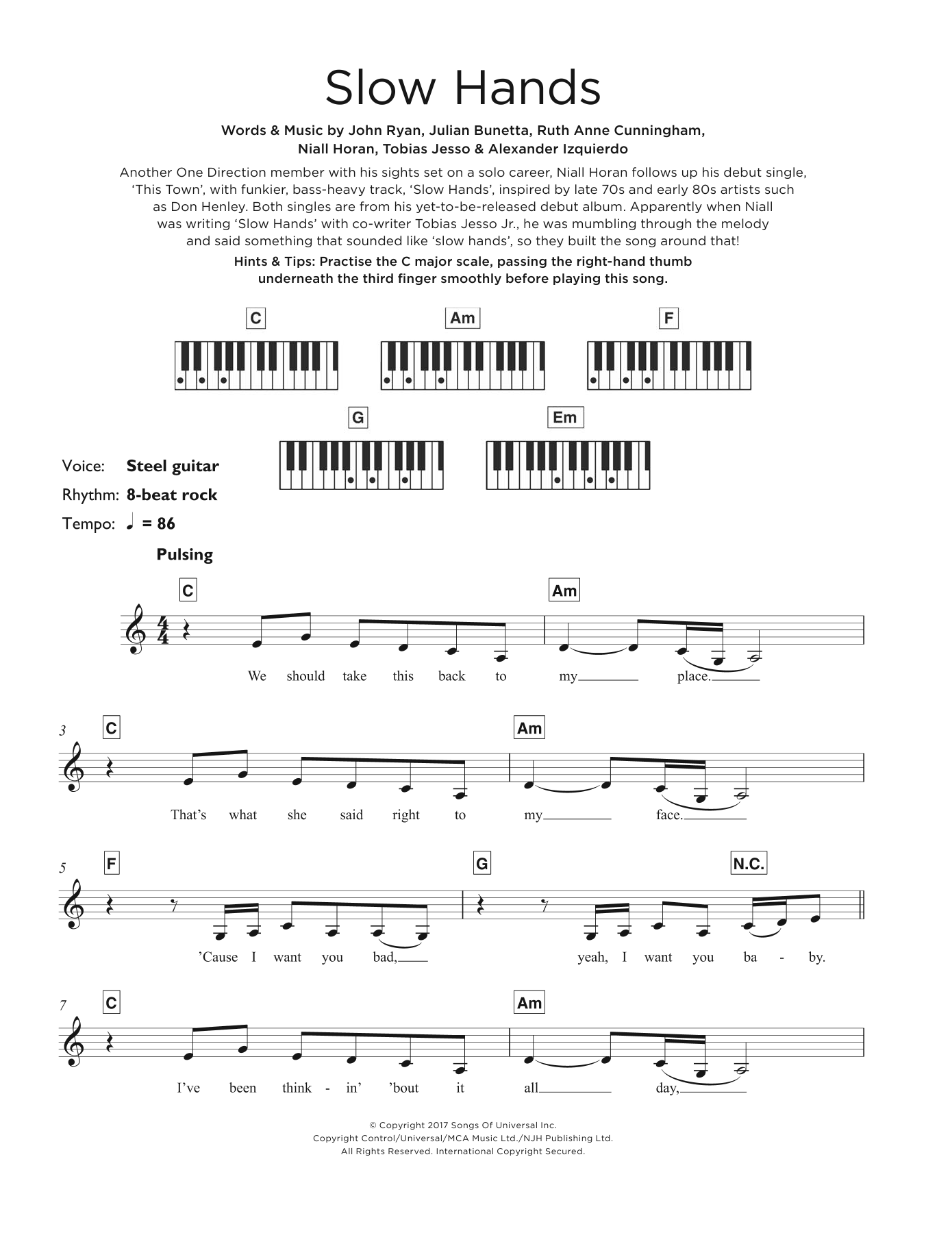 Slow Hands Sheet Music