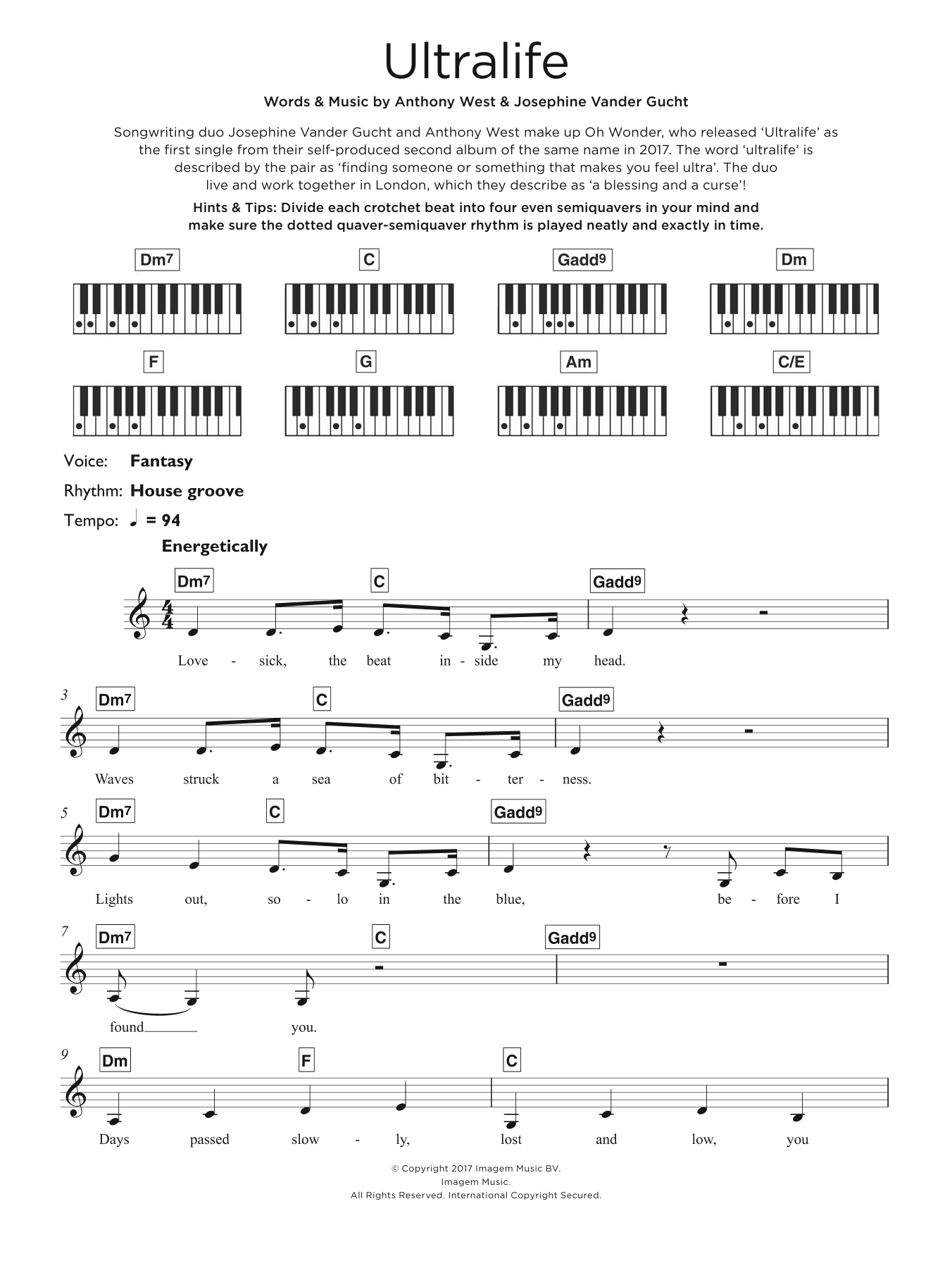 Ultralife Sheet Music