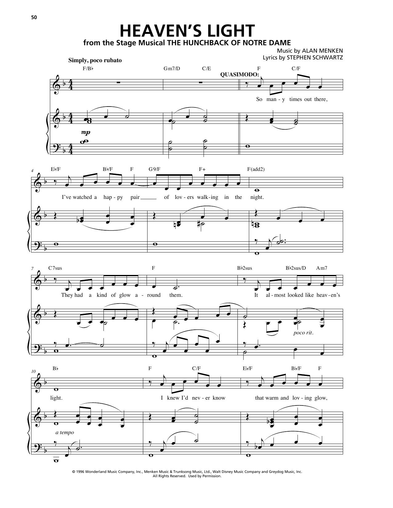 Heaven's Light Sheet Music