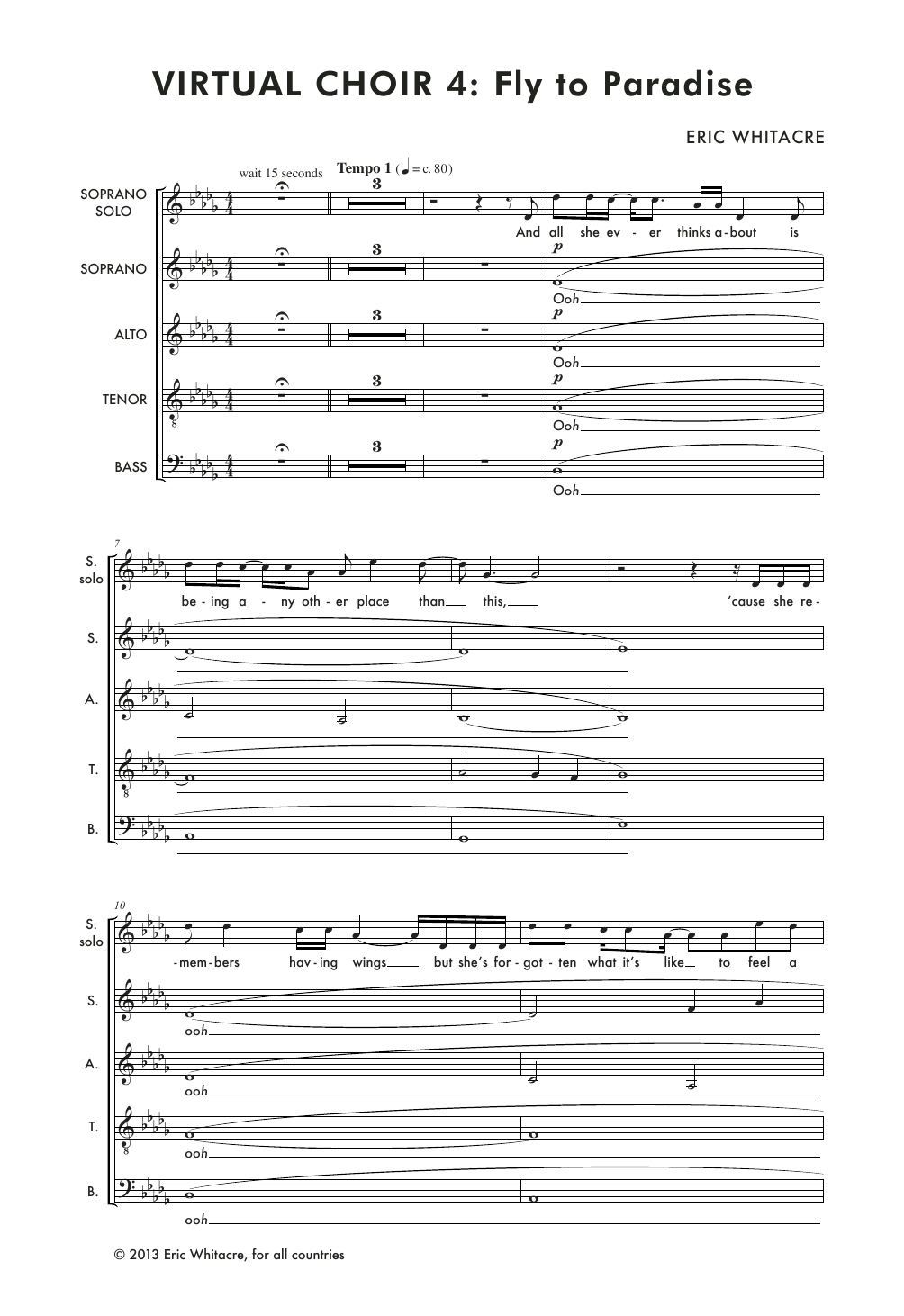 Fly To Paradise Sheet Music