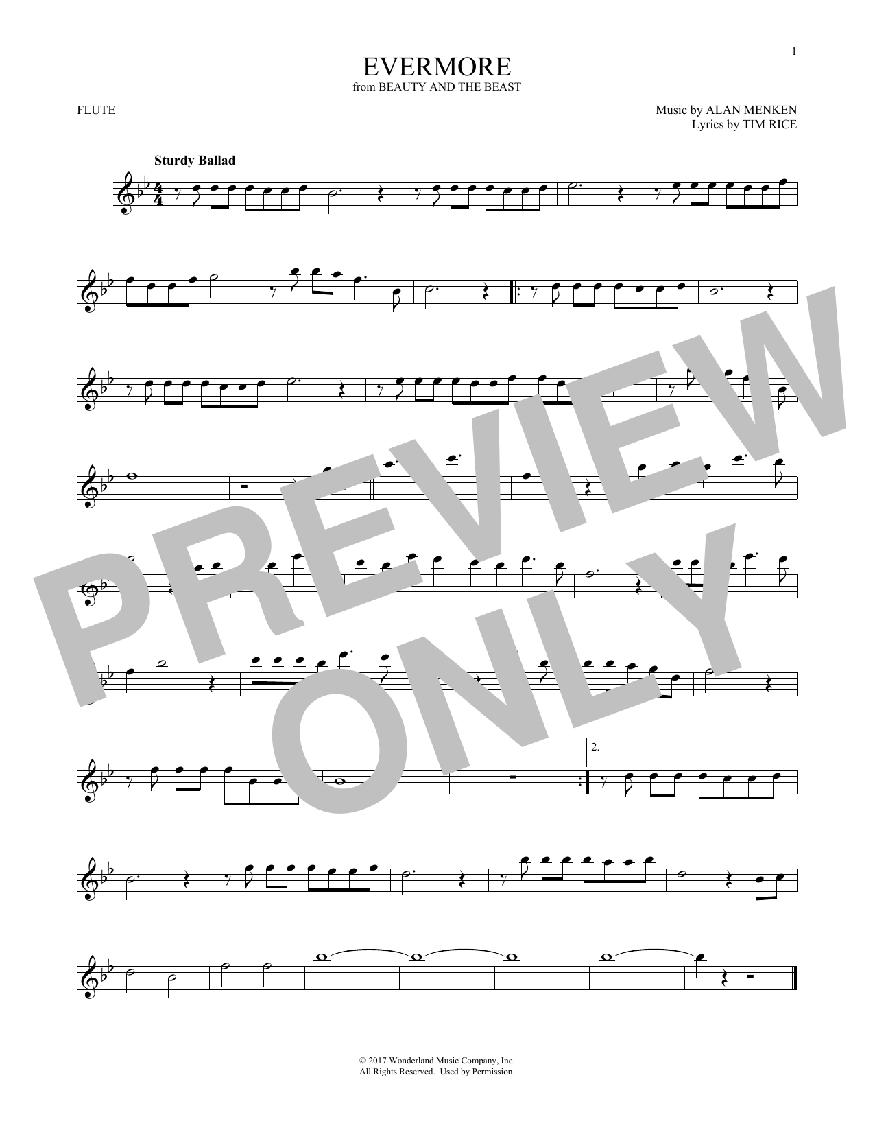 Evermore (from Beauty and the Beast) (Flute Solo)