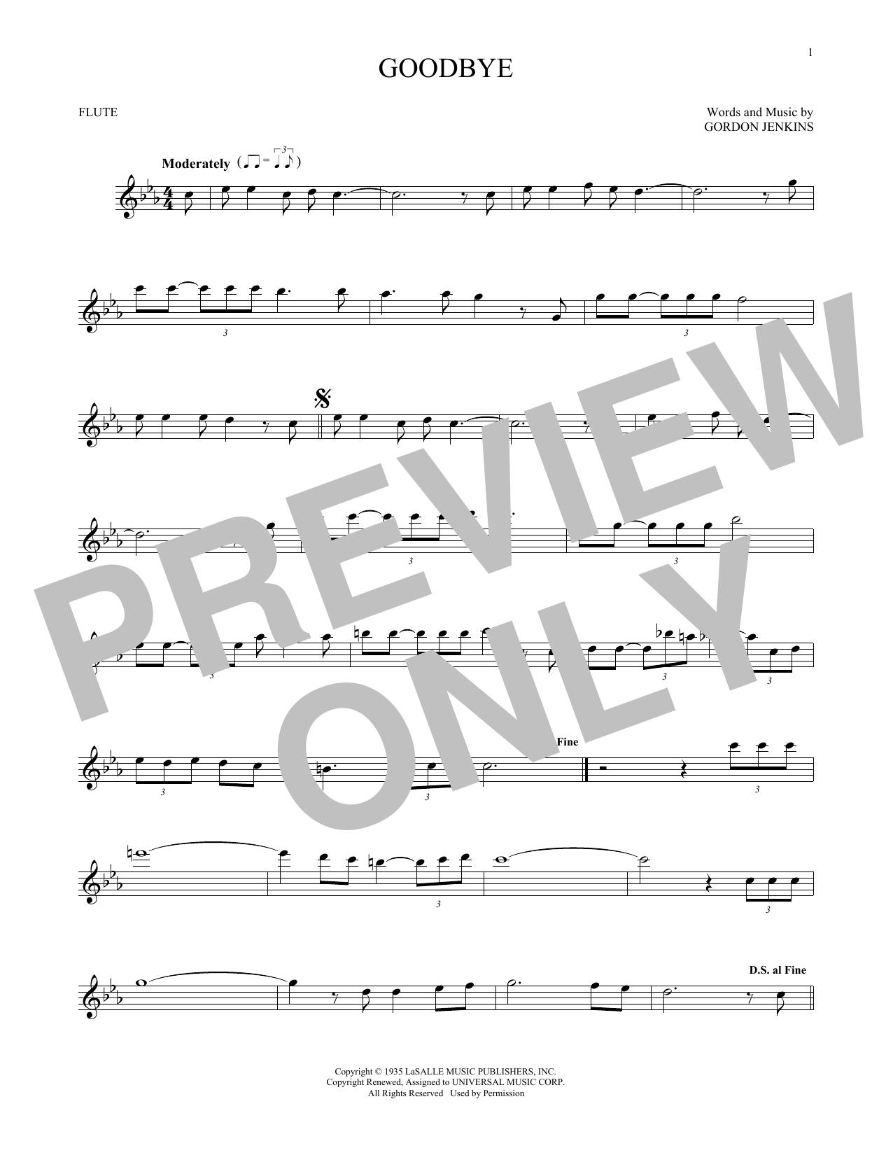 Goodbye (Flute Solo)