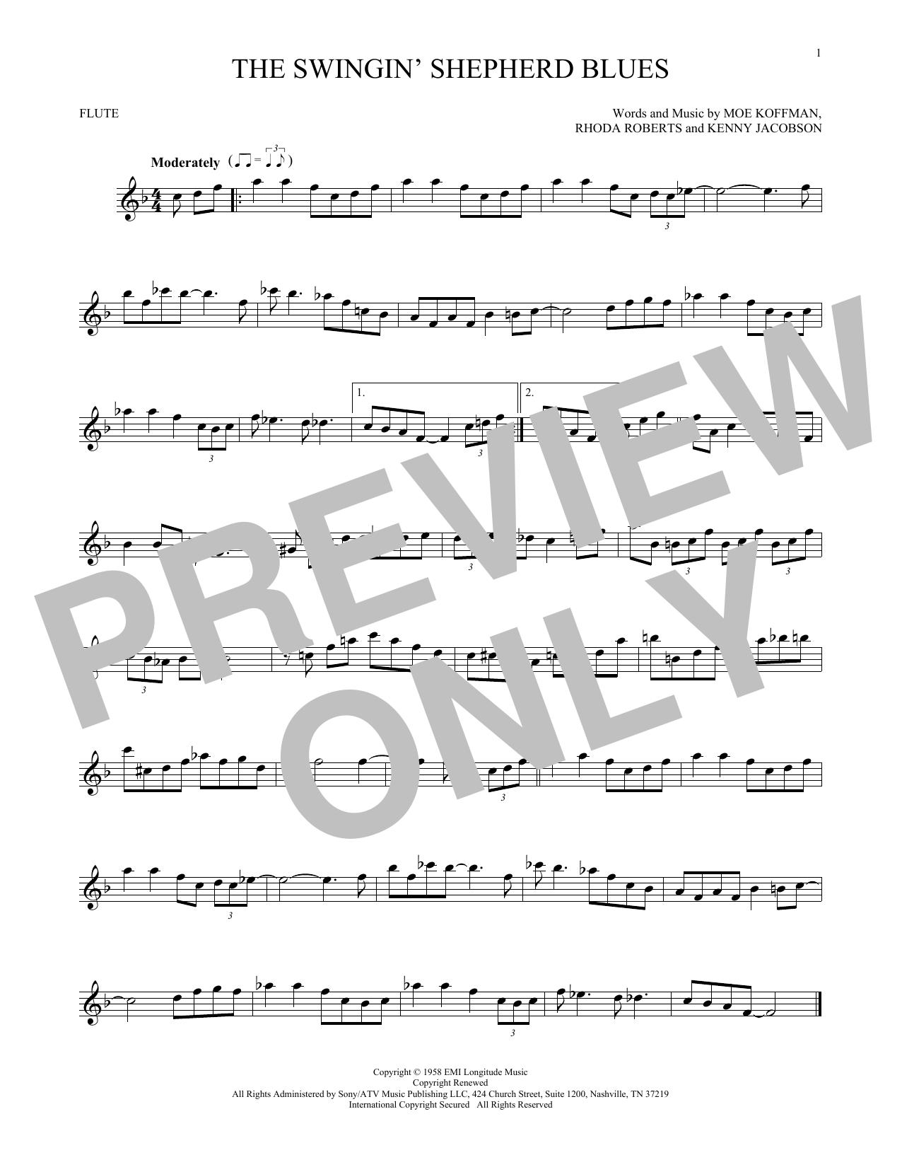 The Swingin' Shepherd Blues (Flute Solo)