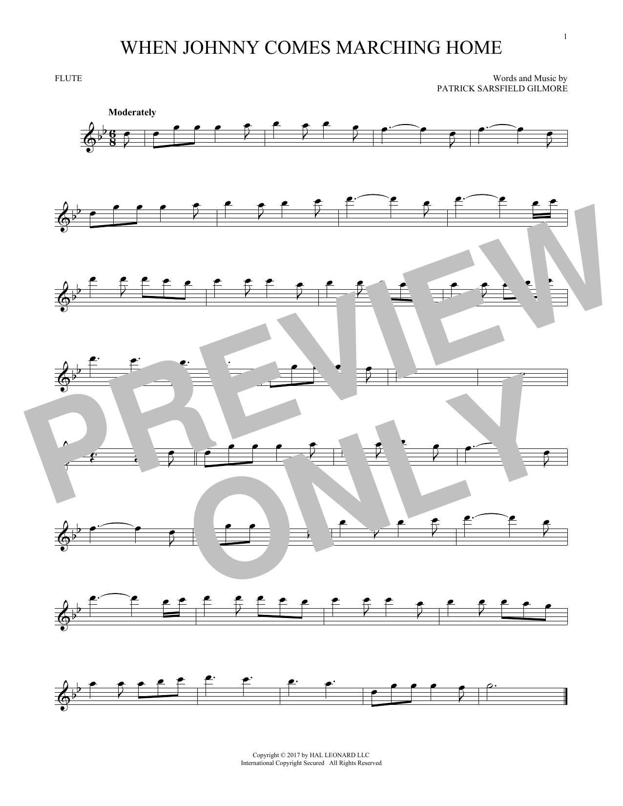 When Johnny Comes Marching Home (Flute Solo)